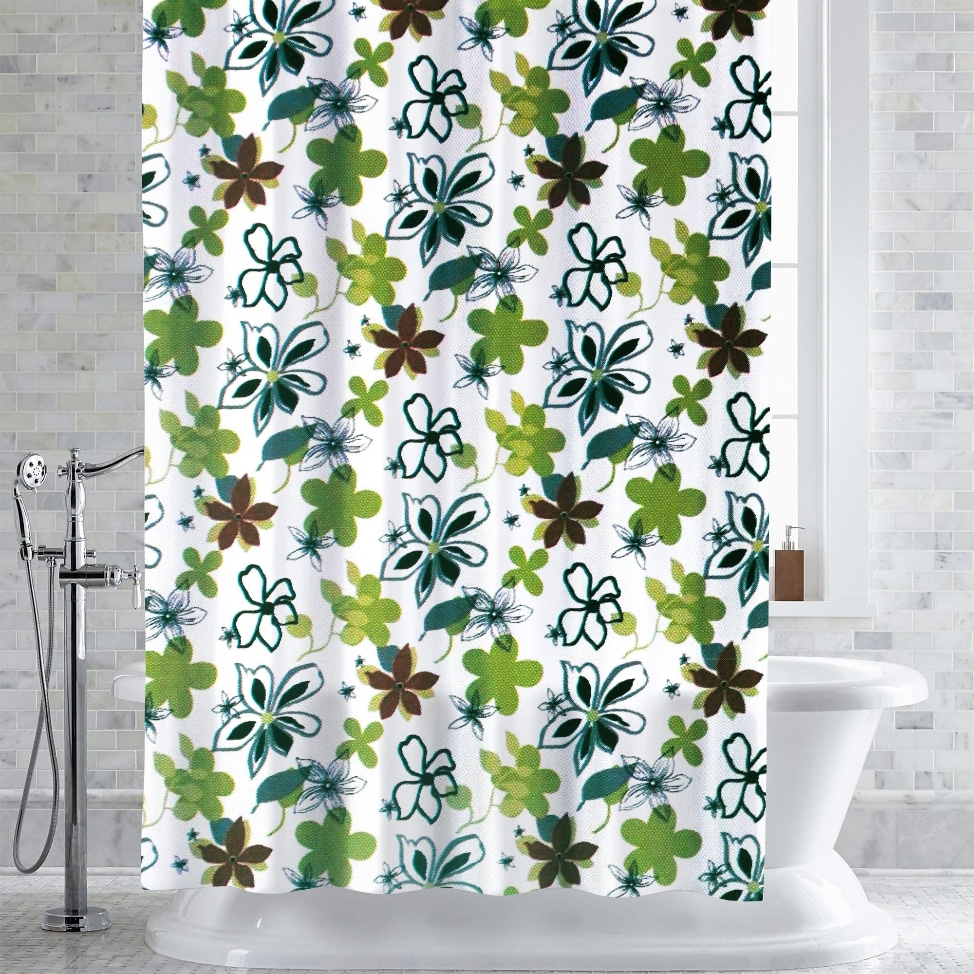 Shop Garner Floral Print PEVA EVA Shower Curtain Liner 70x72