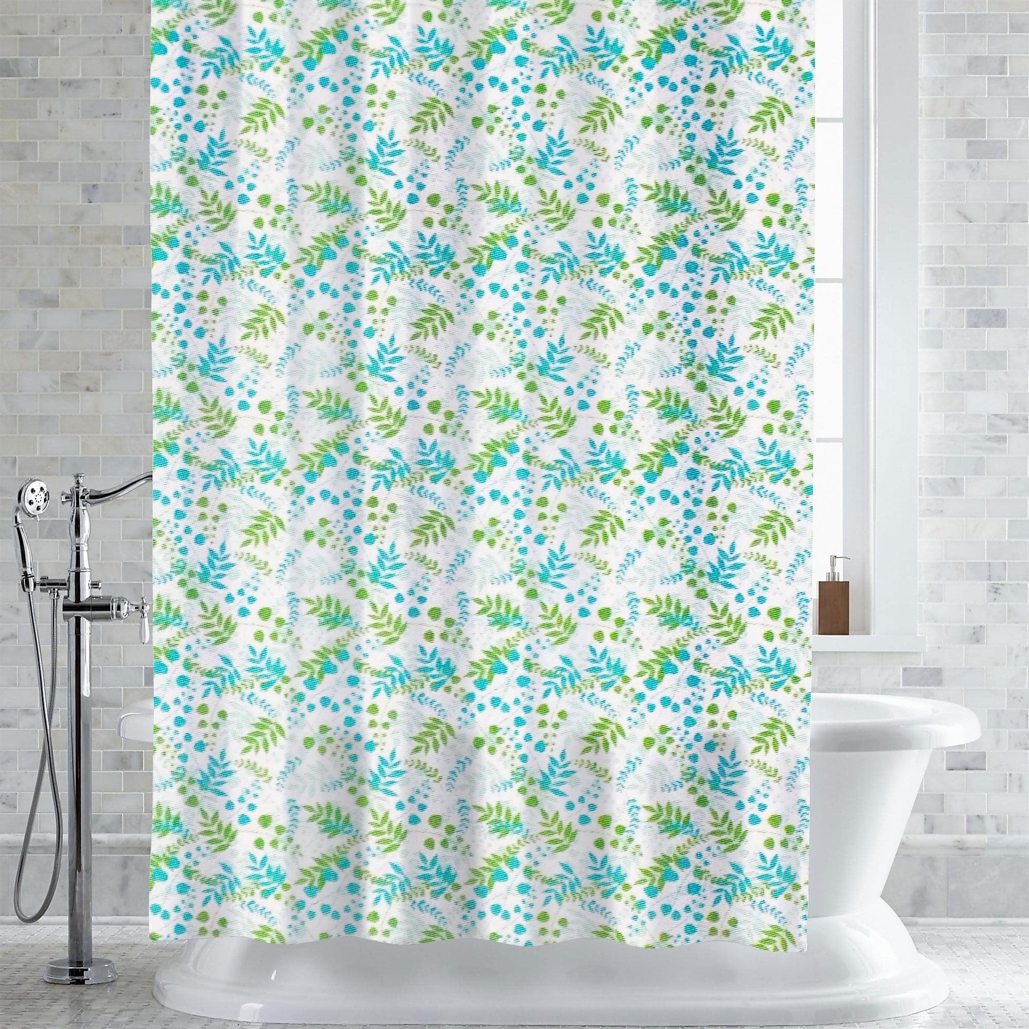 Shop Bruno Foliage Print PEVA EVA Shower Curtain Liner 70x72