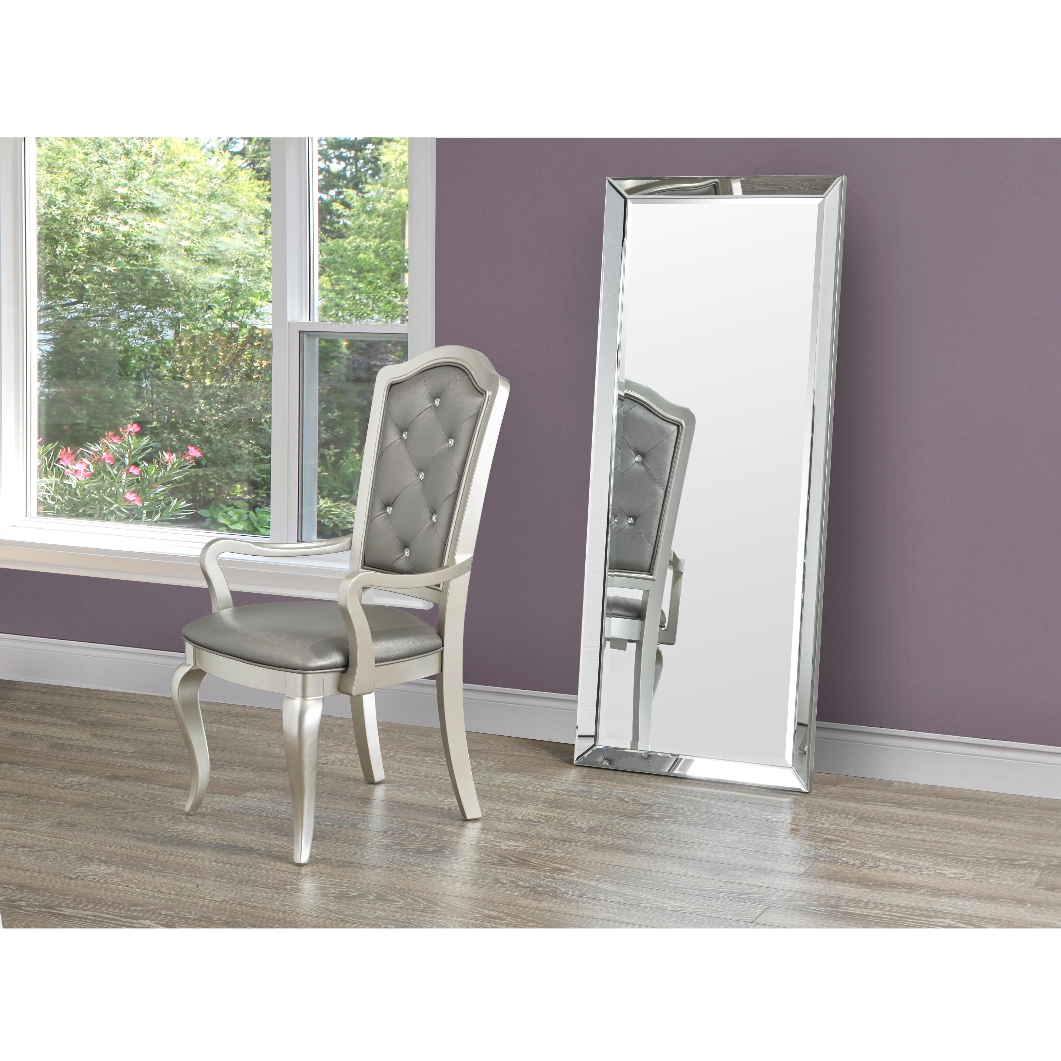 Full Length Leaner Beveled Floor Mirror with Beveled Mirror Frame ...
