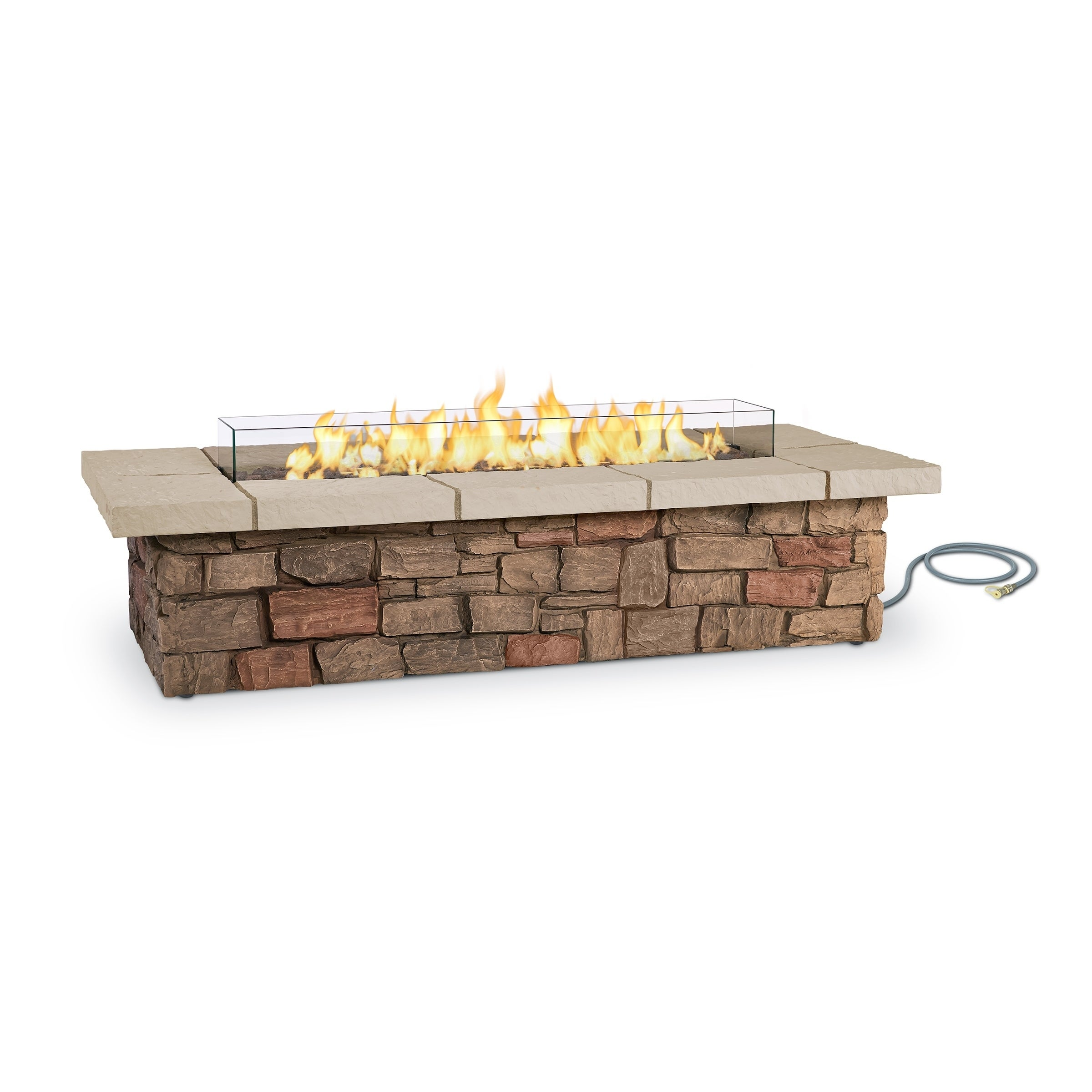 Shop sedona rectangle lp gas fire table w natural gas conversion kit by real flame free shipping today overstock com 18526723