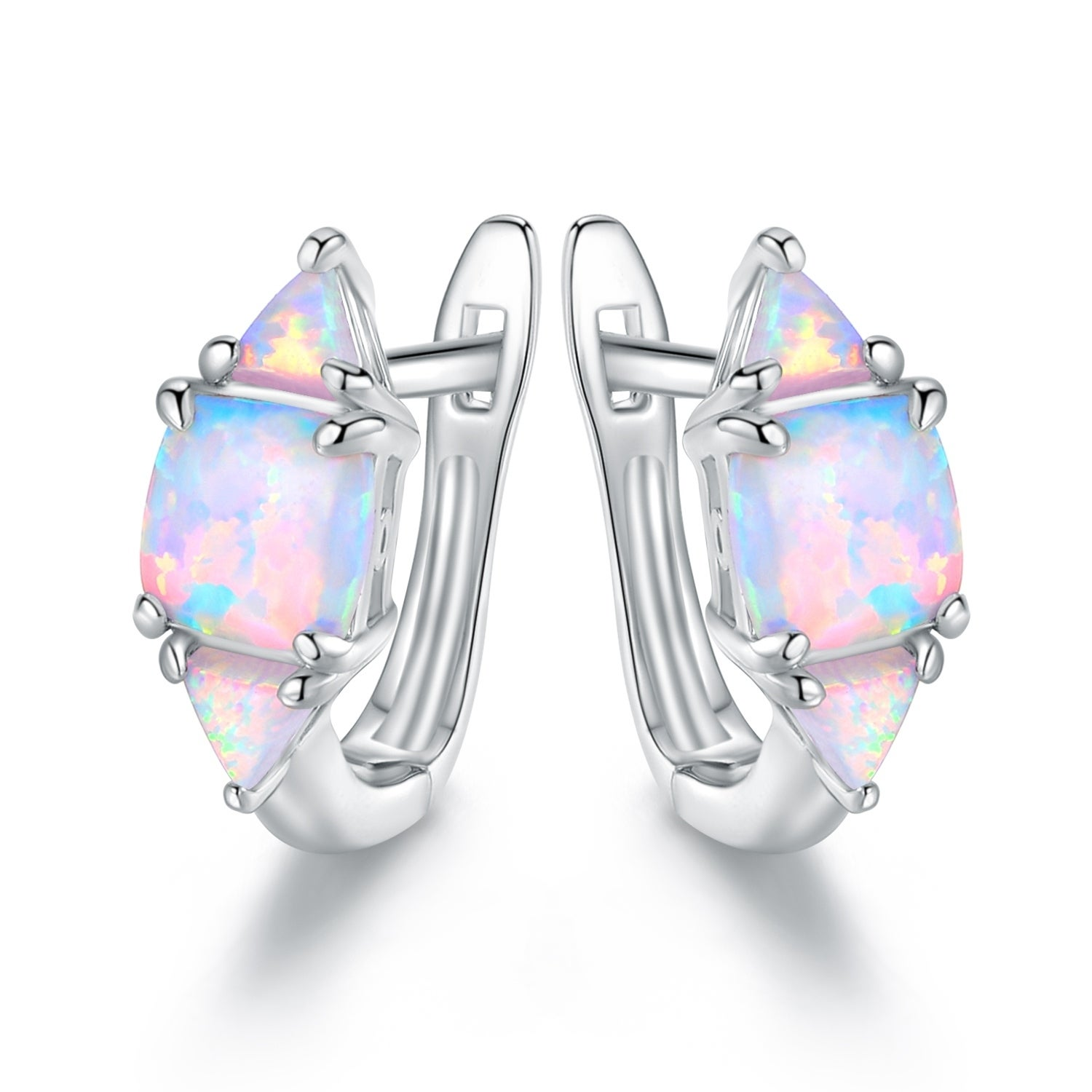 opal earrings diamond signature zoom and loading