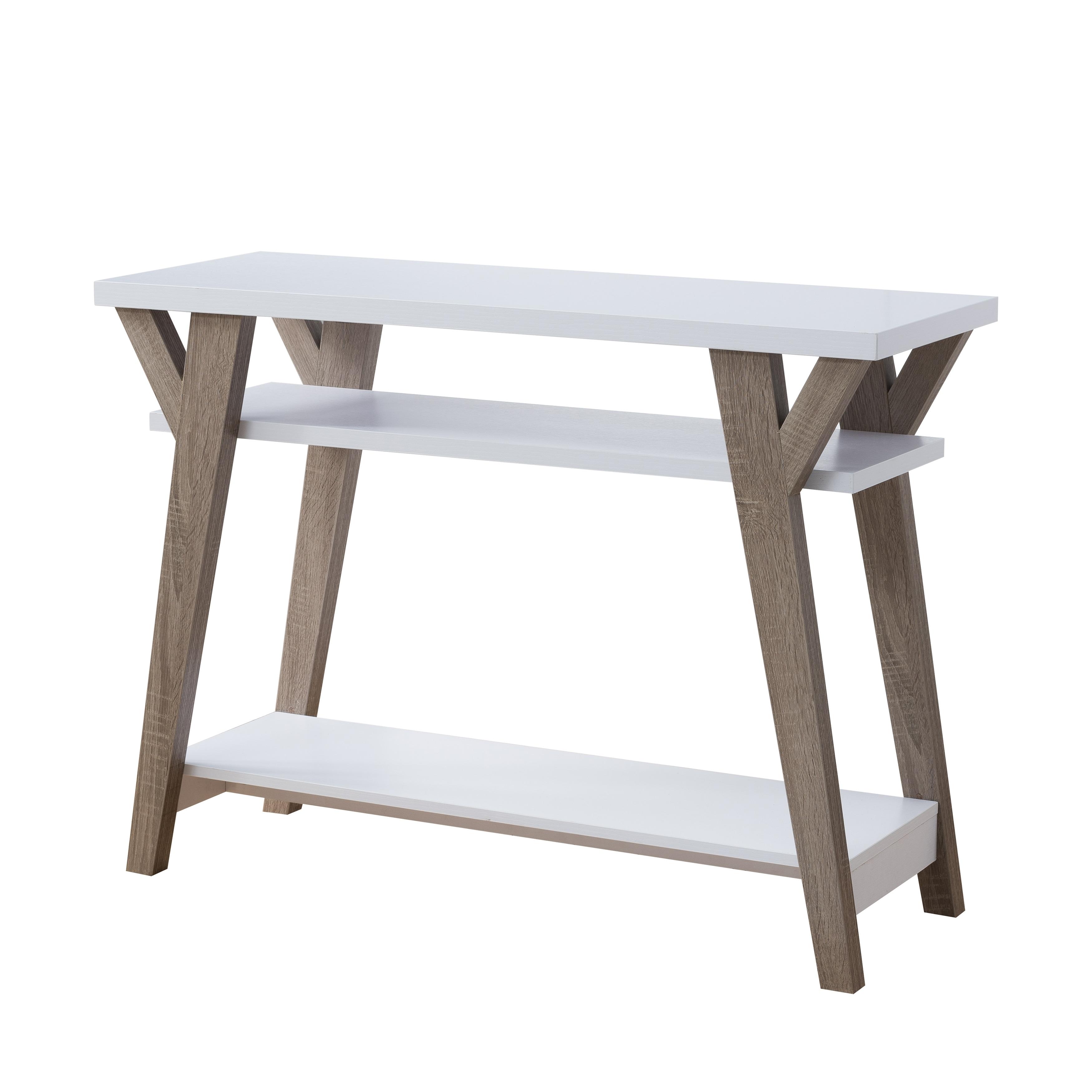 Furniture of America Shenera Contemporary White Distressed Oak