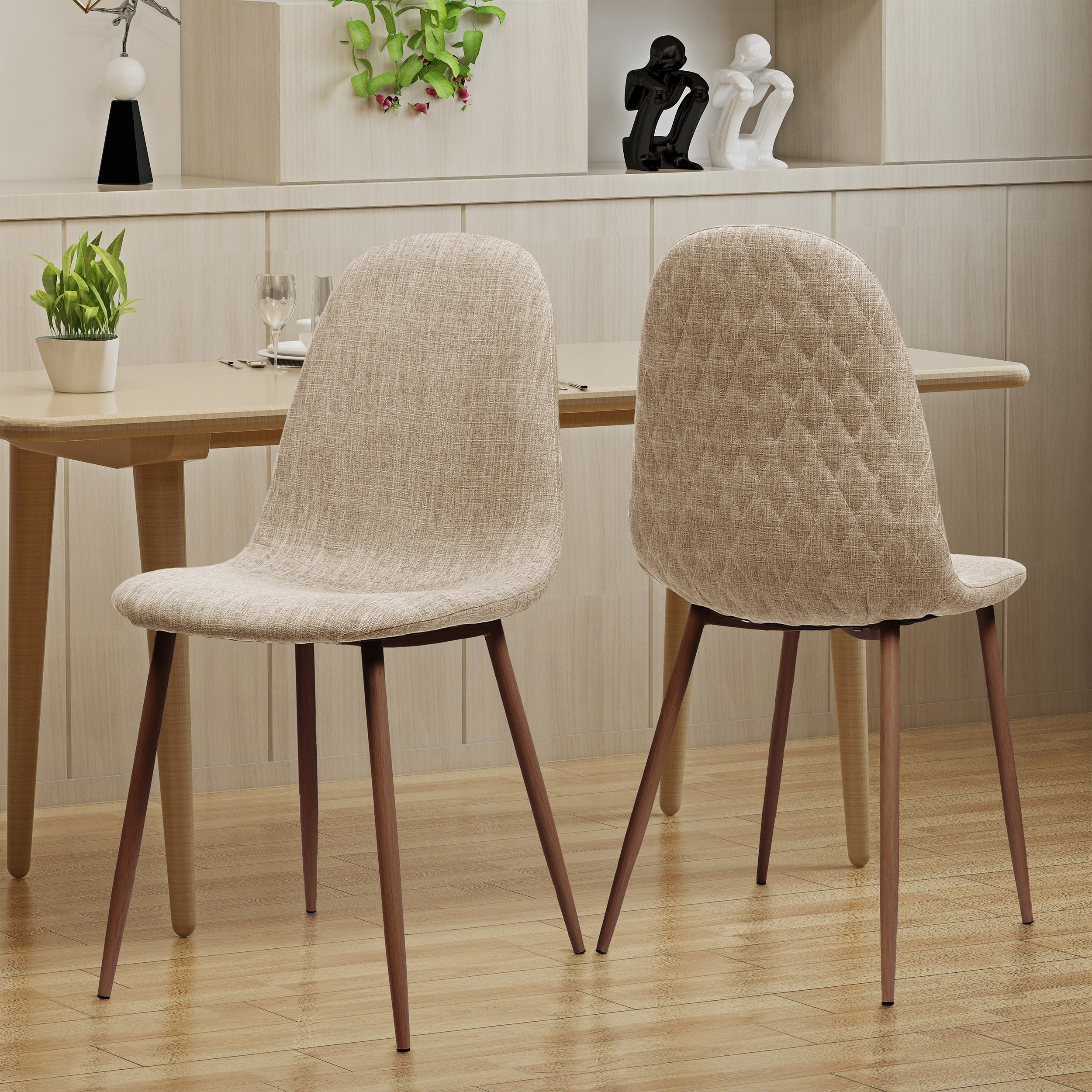 Caden Mid Century Fabric Dining Chair (Set Of 2) By Christopher Knight Home    Free Shipping Today   Overstock   24637702