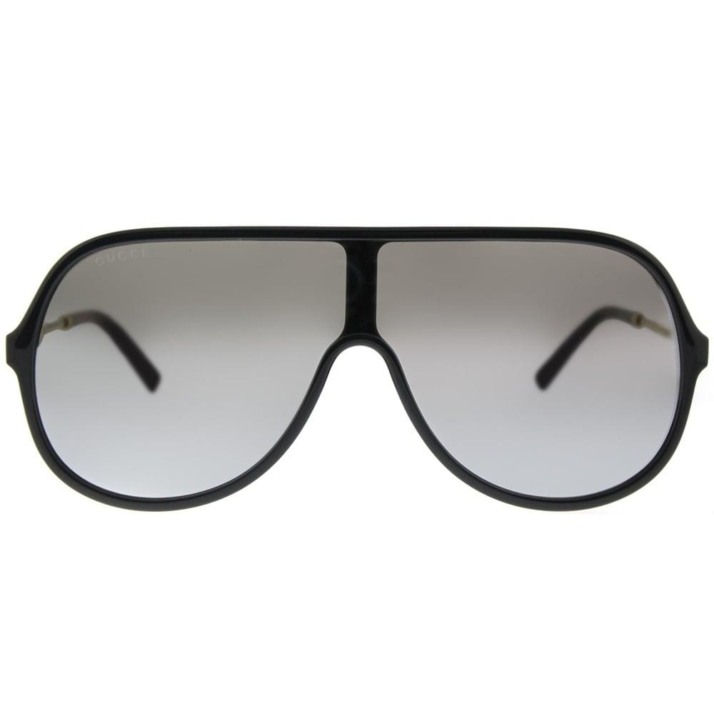 0dff8cbebf9 Shop Gucci Shield GG 0199S 002 Unisex Black Frame Silver Mirror Lens  Sunglasses - Ships To Canada - Overstock - 18531576