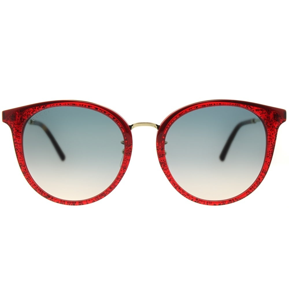 Shop Gucci Fashion GG 0204SK 005 Women Red Frame Blue Gradient Lens ...