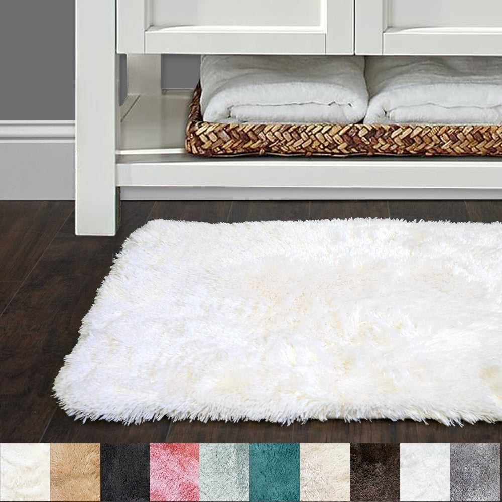 Sweet Home Collection Faux Fur Bath Rug (Available in 10 colors and ...