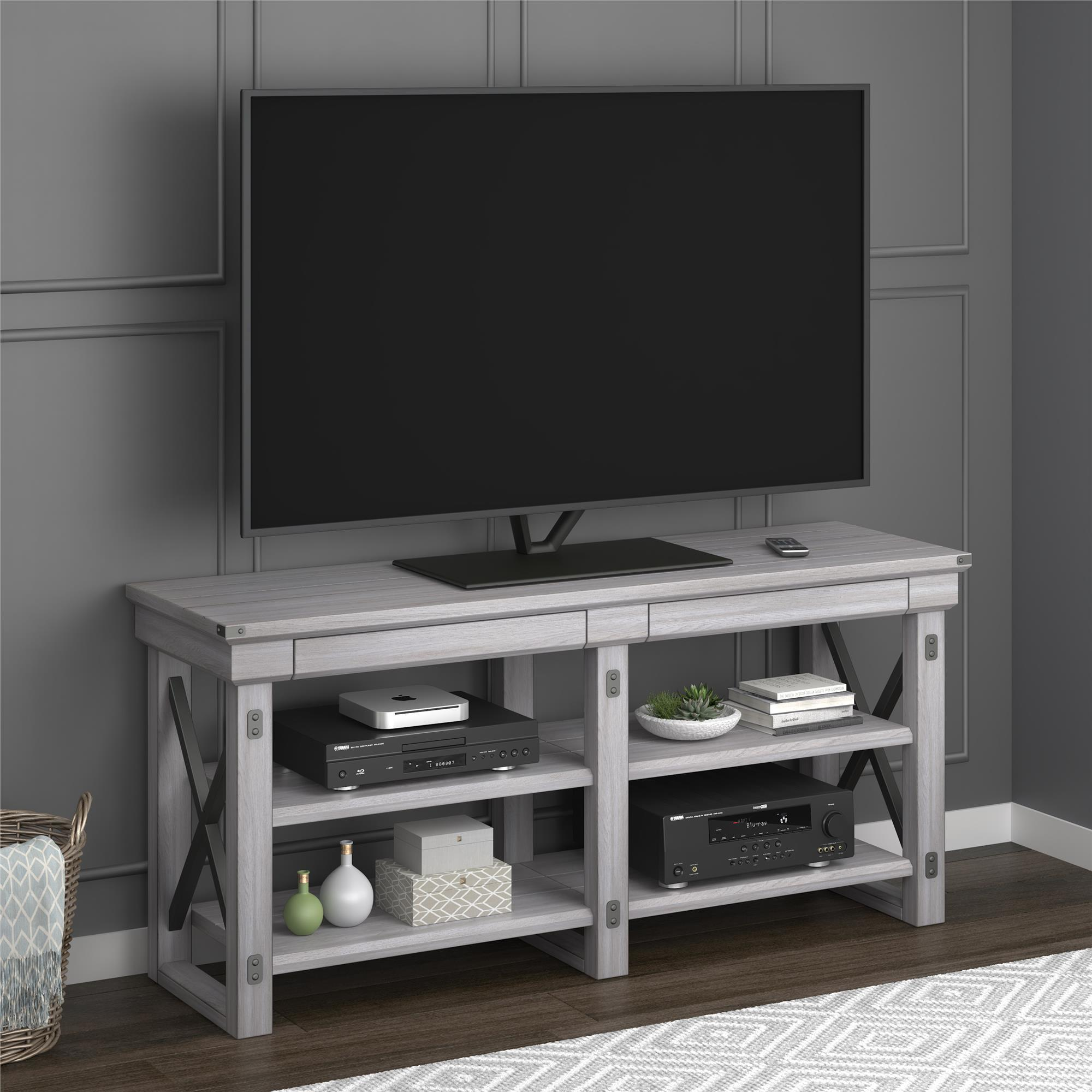 Shop Avenue Greene Woodgate Rustic White Tv Stand For Up To 65 Inch