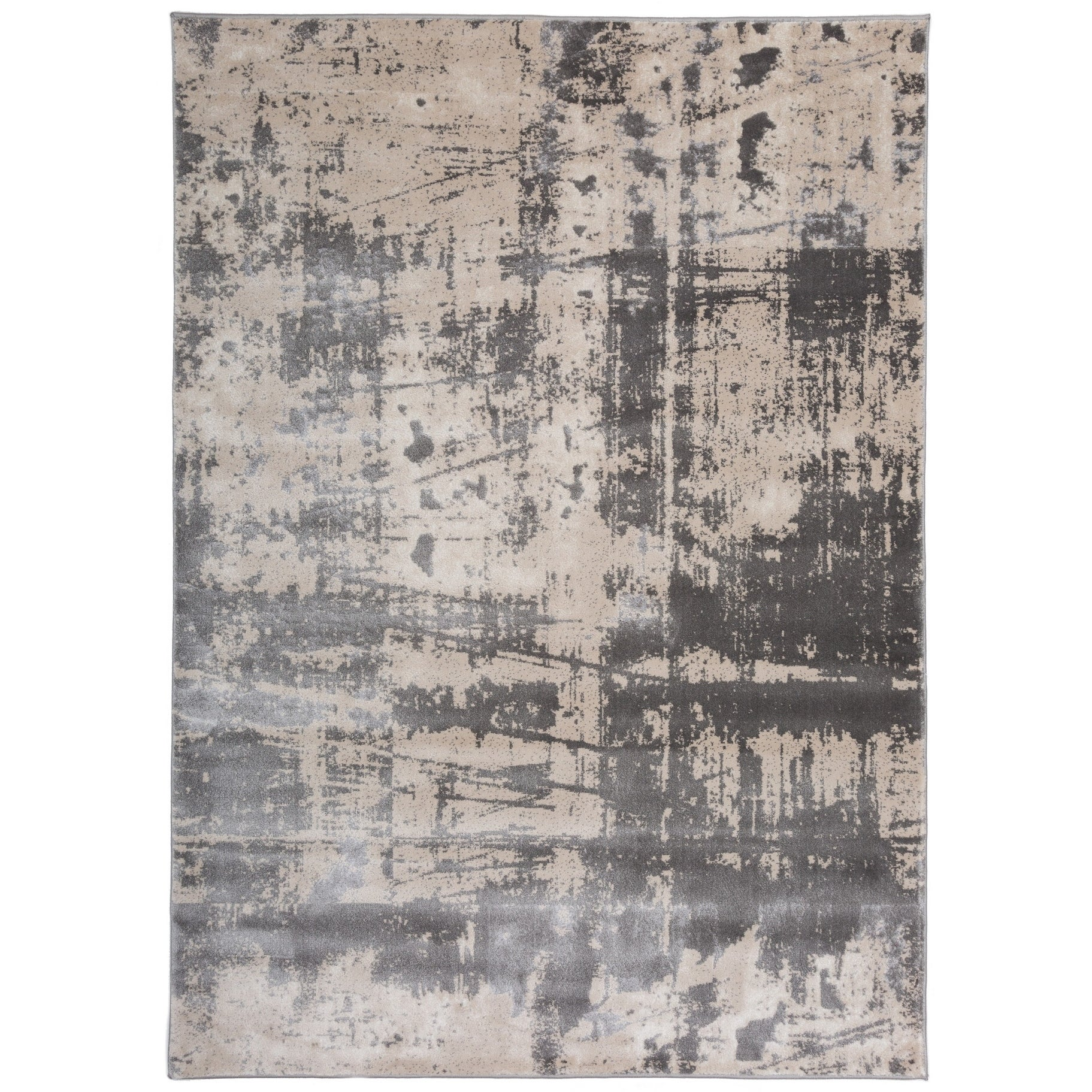 Distressed Modern Abstract Gray High Low Texture Area Rug 7 X 10 Free Shipping Today Com 24646546