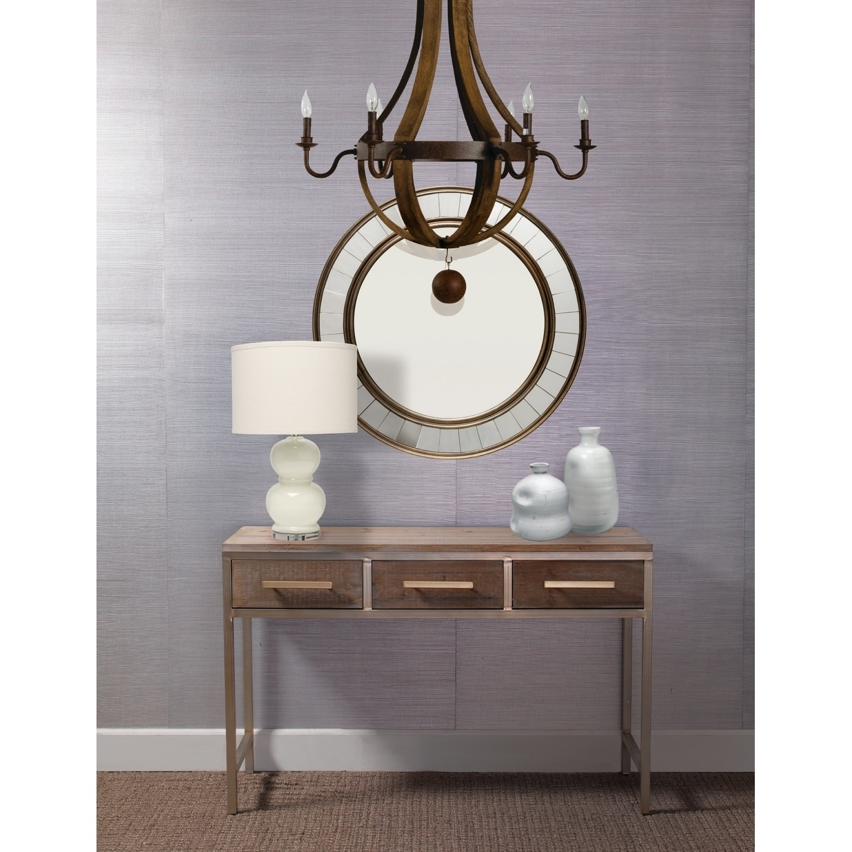 Shop Alden Decor Round Wood Mirror With Trim Antique Bronze On Sale Ships To Canada Overstock 18540885