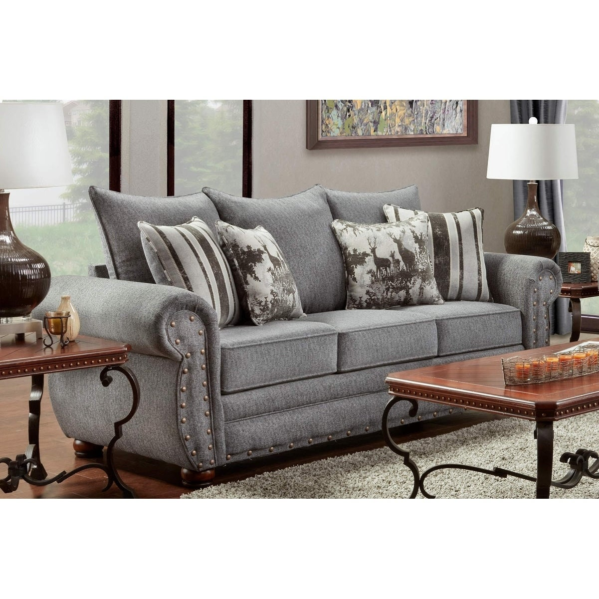 American Furniture Clics Model B3103 Erss Elk River Storm Sofa On Free Shipping Today 18542036