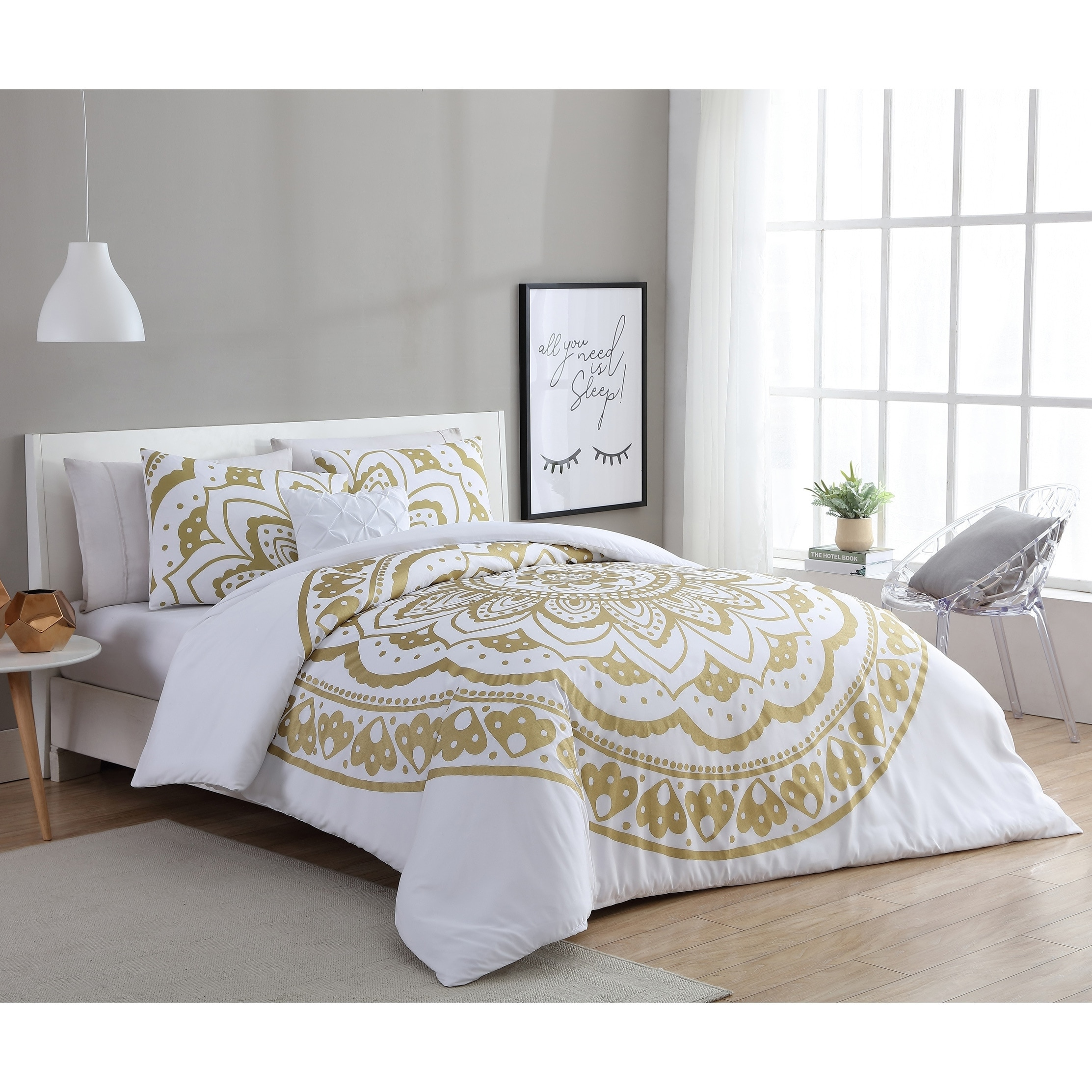 e52a9a6378fd Shop VCNY Home Karma 4-piece Comforter Set - On Sale - Free Shipping Today  - Overstock - 18543332