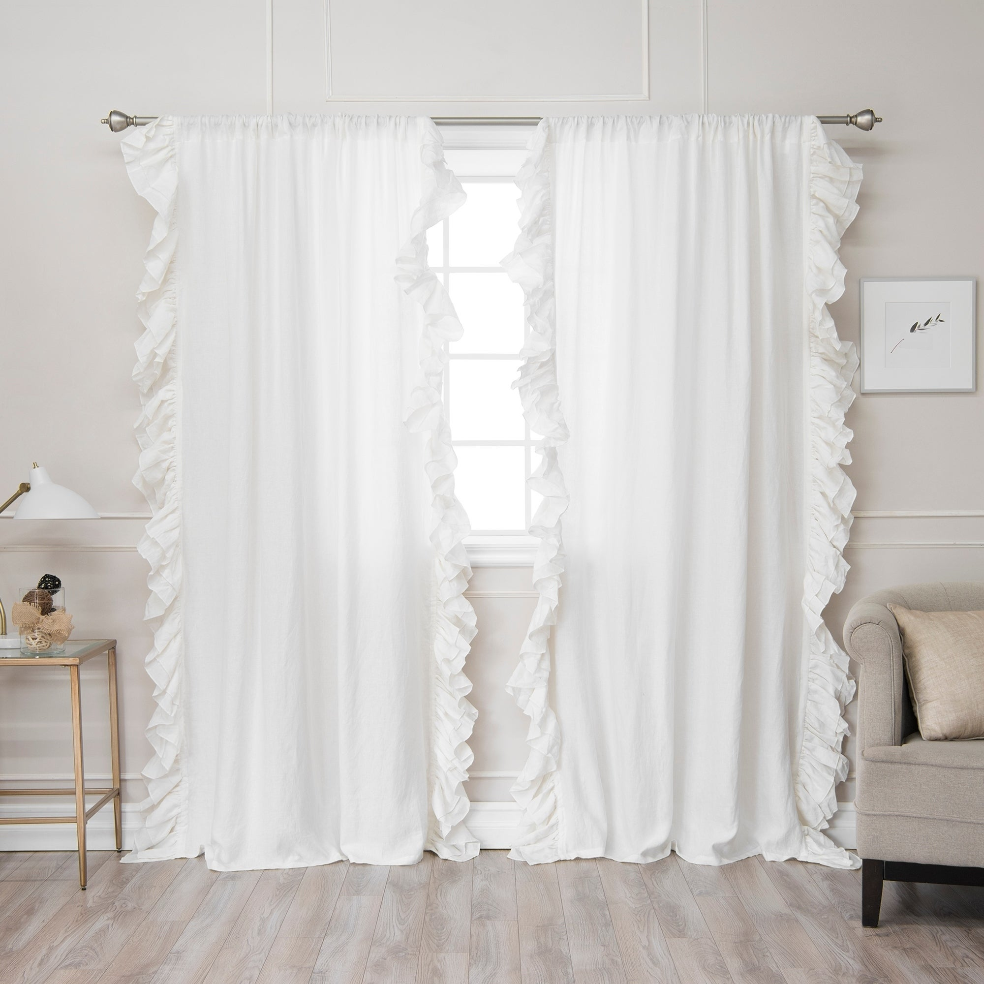 these the white and i a found got girls for store ruffled ruffle making panel piece at curtains thrift curtain sheets pin bedrooms