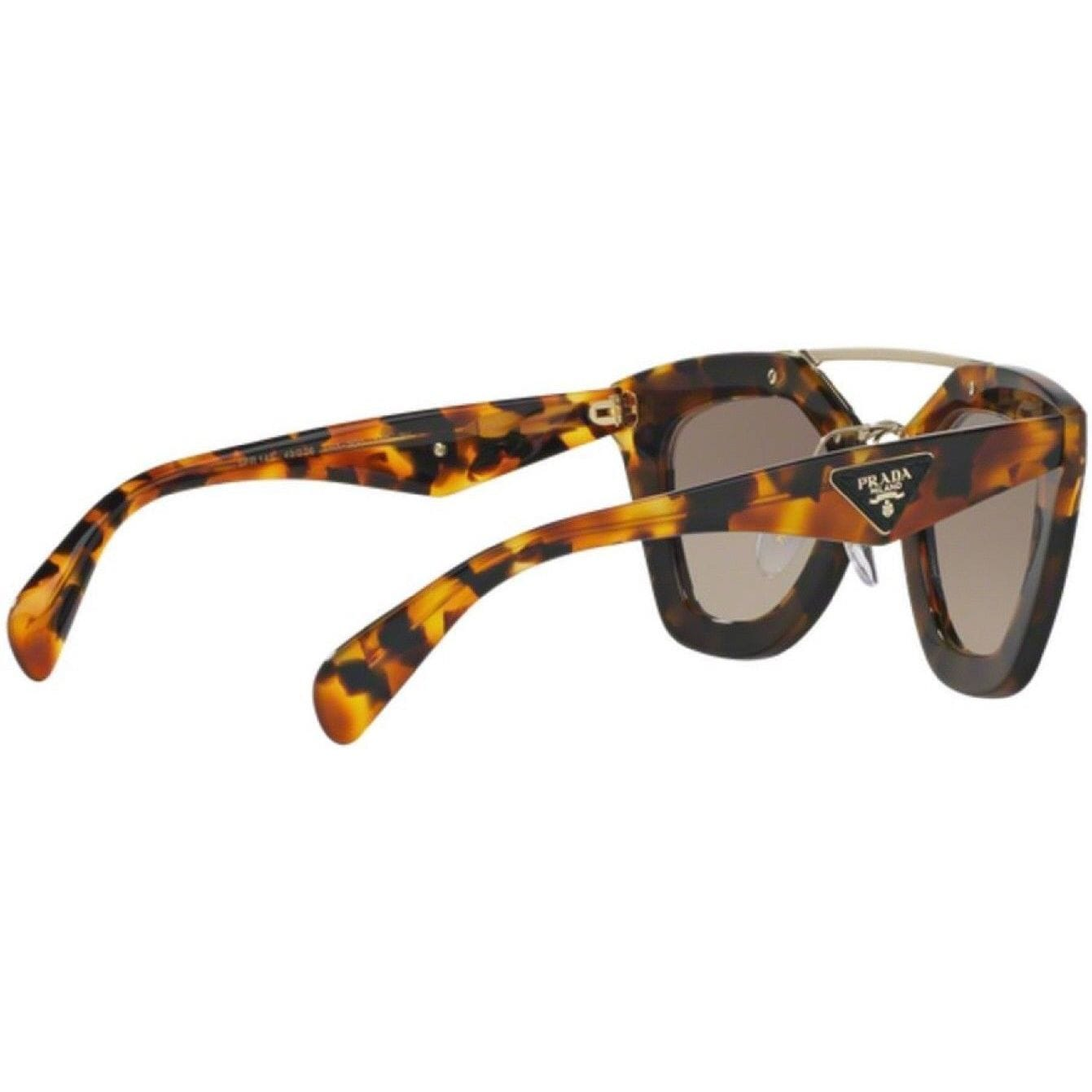 4a6b0235f35 ... low price shop prada pr 14ss vhc4ko womens havana pink leather frame  brown lens sunglasses free