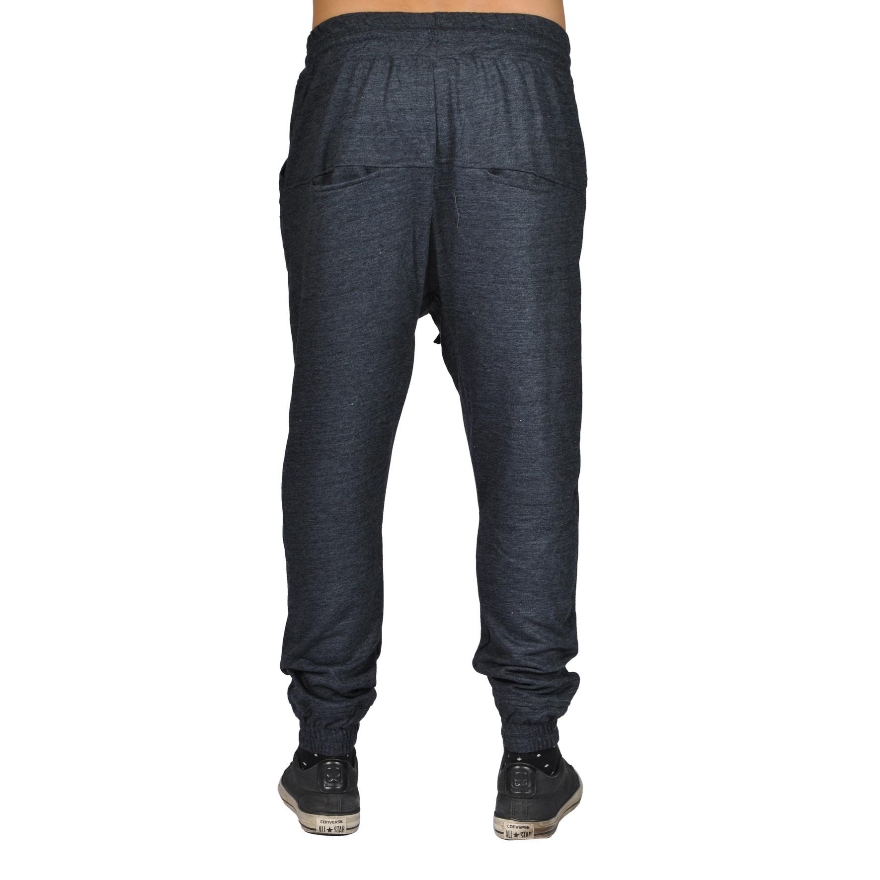 83c9801552c Shop Men s Harem Trousers Hip Hop Nice Drop Joggers Dark Grey - On ...