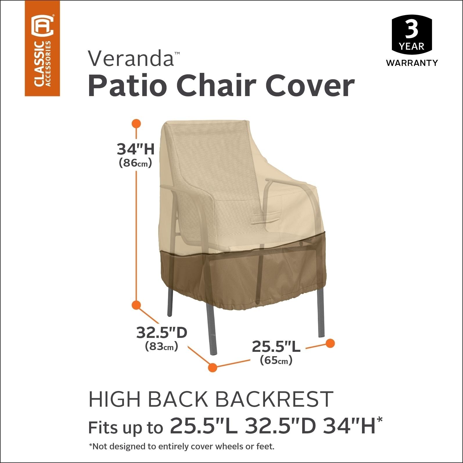 Shop Classic Accessories Veranda High Back Patio Chair Cover On