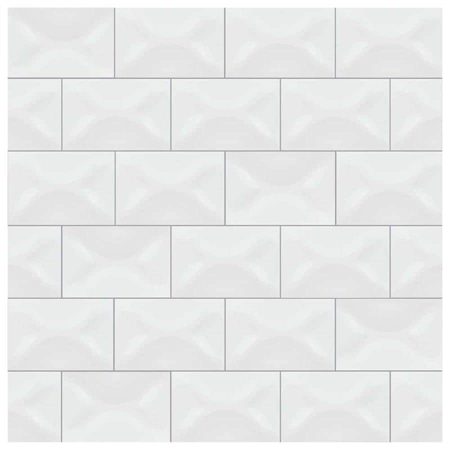 Shop SomerTile Xinch Leida Blanco Ceramic Wall Tile Tiles - 4x6 wall tile