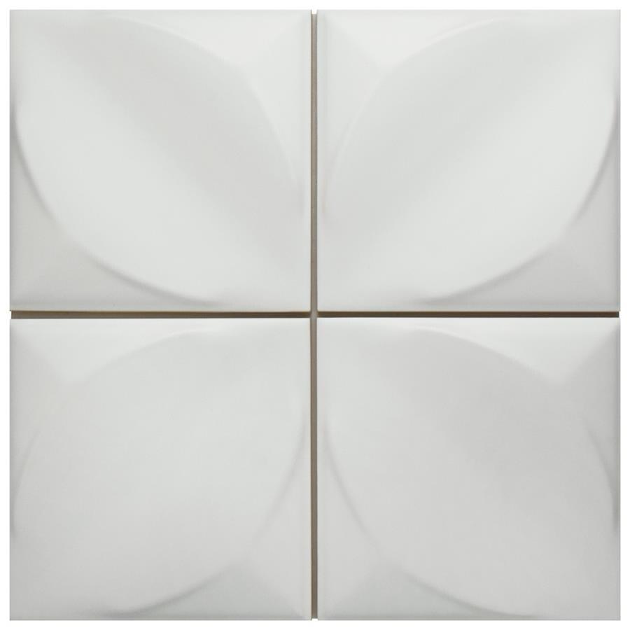 Somertile 6x6 Inch Malmo Blanco Ceramic Wall Tile 22 Tiles 5 97 Sqft Free Shipping Today 18581754