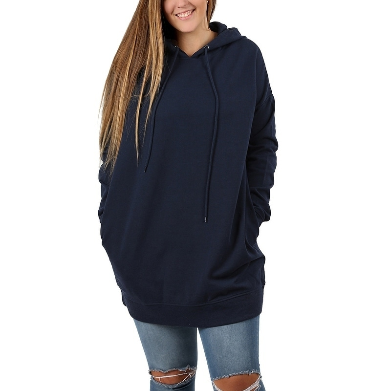 10188ef8313 Shop JED Women's Plus Size Comfy Fit Hoodie Tunic Sweatshirt - On Sale -  Free Shipping On Orders Over $45 - Overstock - 18588596