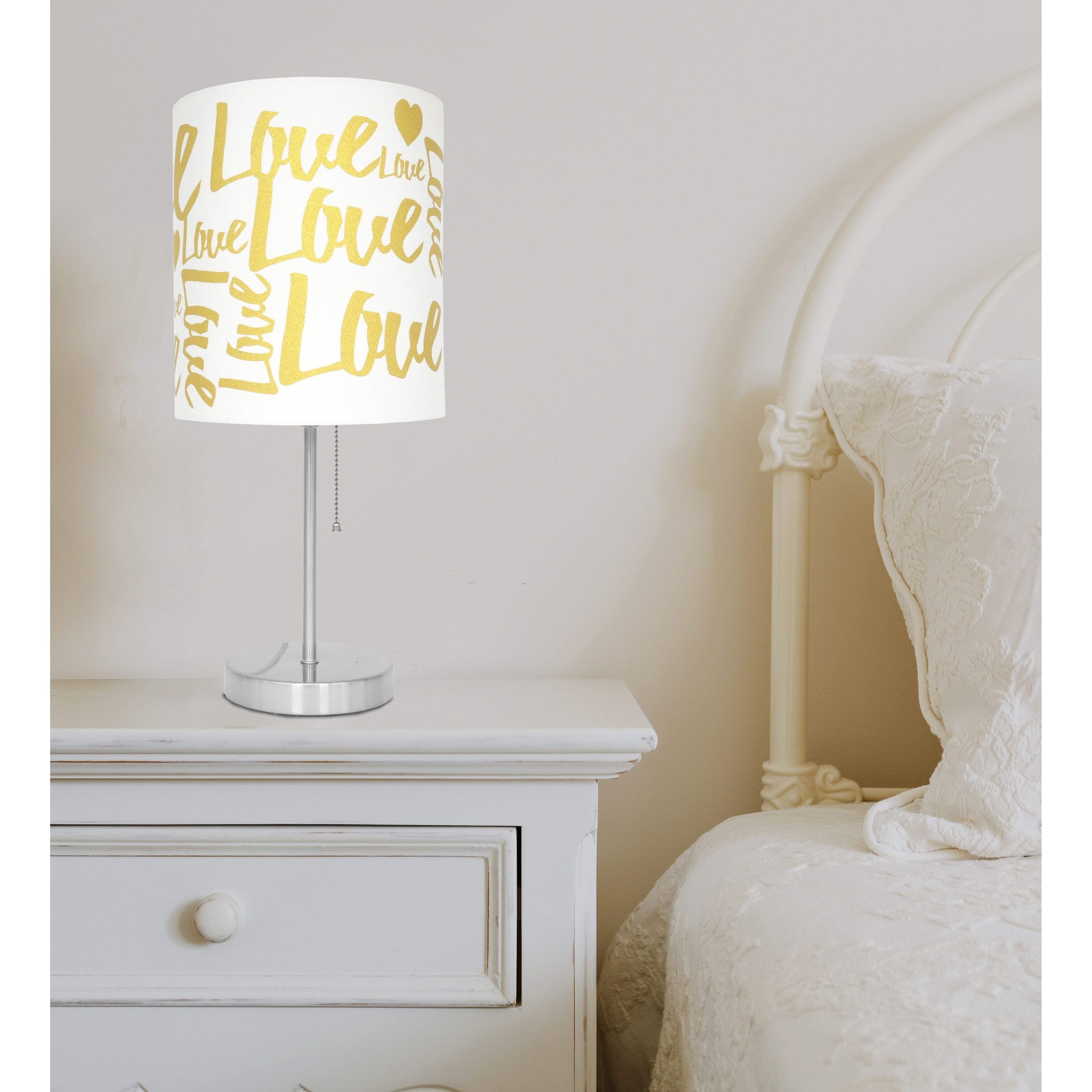 7f79339e84f1 Shop Gold Love Stick Lamp - Free Shipping On Orders Over $45 - Overstock -  18588644