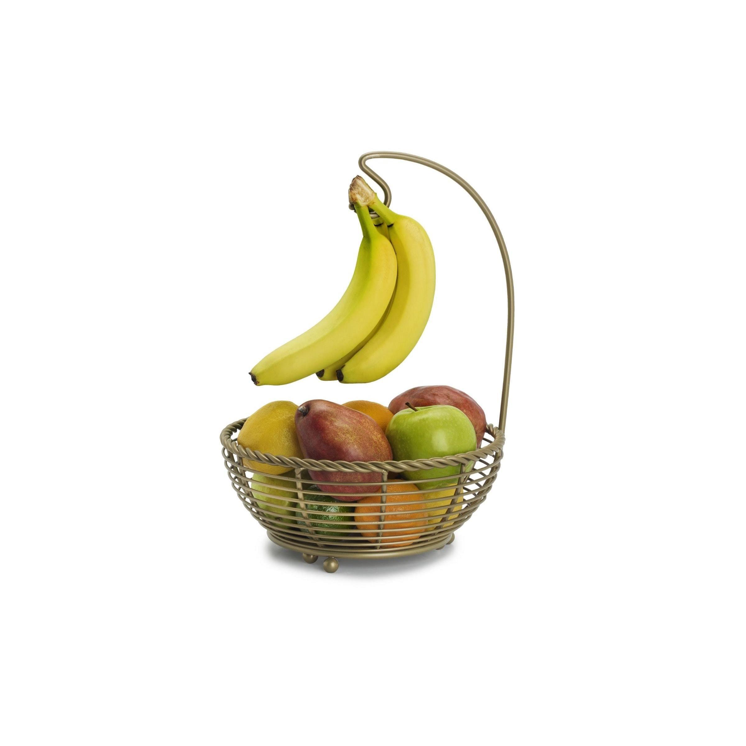 Mikasa Gourmet Basics Rope Fruit Basket With Banana Hanger - Free ...