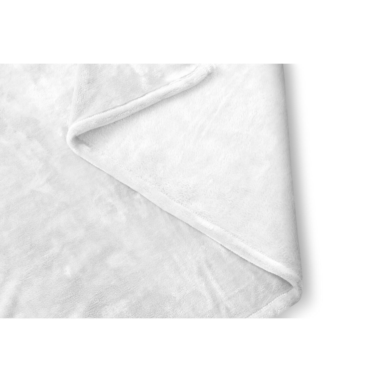 80 x 60 Fleece Blanket Kess InHouse Kess Original Live Simply Blue White Throw