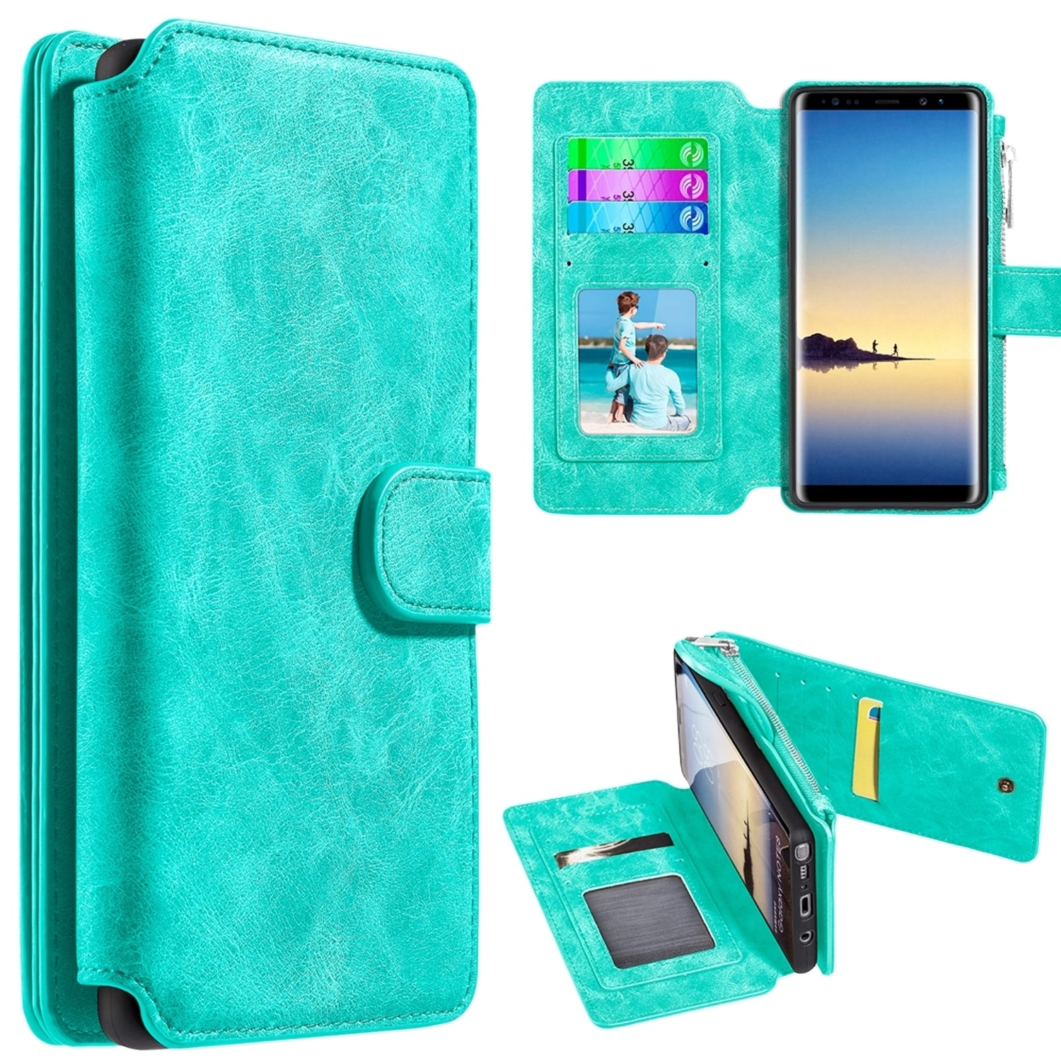 online retailer d2d6b 3d20a Samsung Galaxy Note 8 Luxury Coach Series Flip Wallet Case