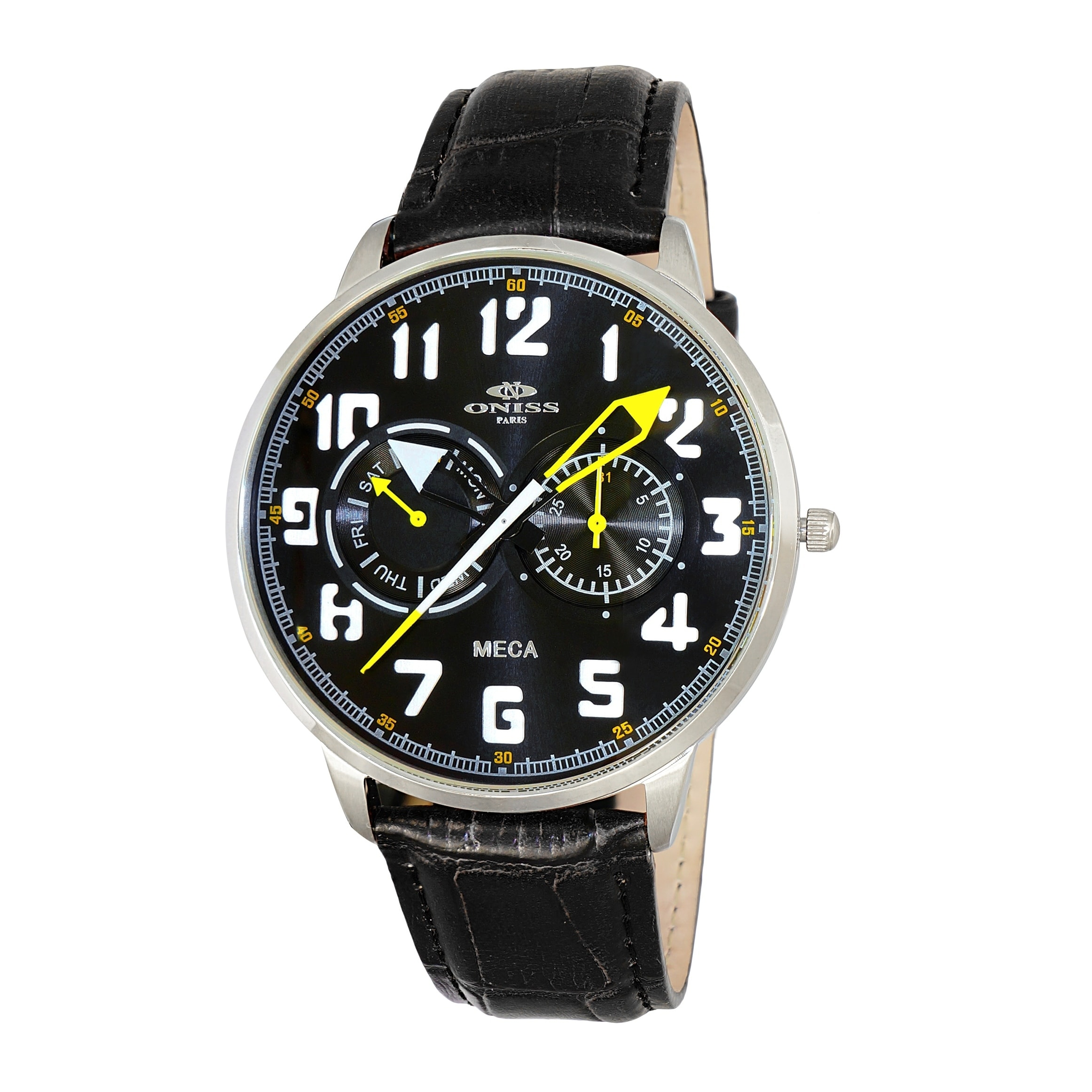 luxury wherever black feet splatterproof itm cool your men band date takes its watch megir those design watches army is great sporty analog who you on look compromise us go t appearance chronograph won for metallic leather wrist