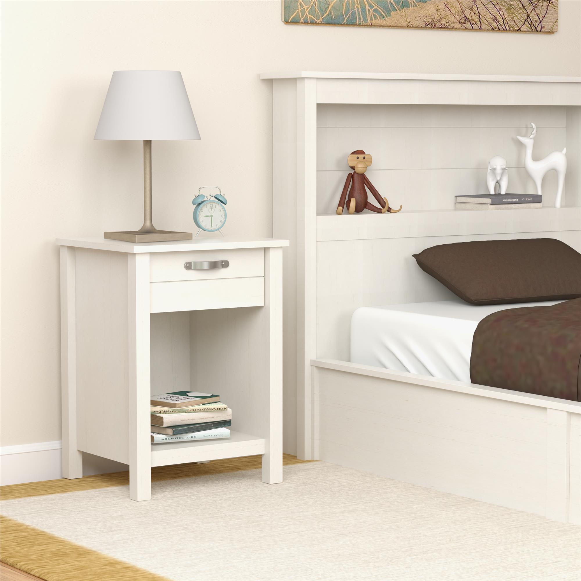 bookcase frame nightstands size with shelf headboards headboard oak floating tall bed storage queen
