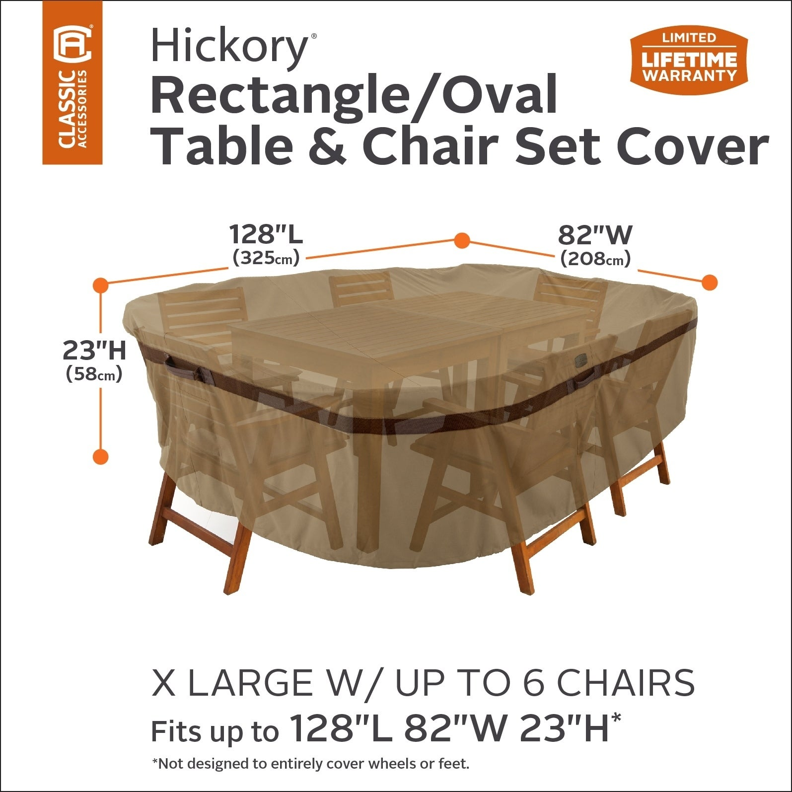 Shop Classic Accessories Hickory Heavy Duty Rectangular Oval Patio