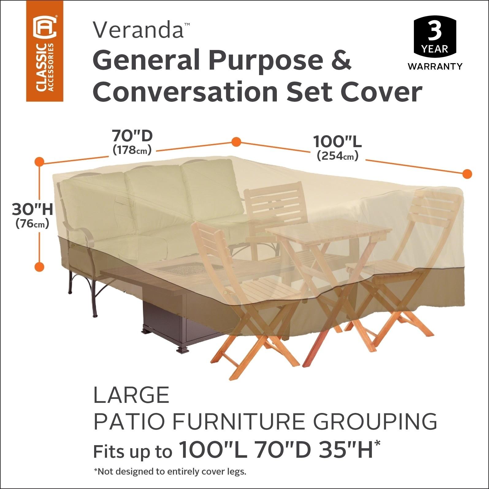 Clic Accessories Veranda Conversation Set General Purpose Patio Furniture Cover Large Free Shipping Today 18612052