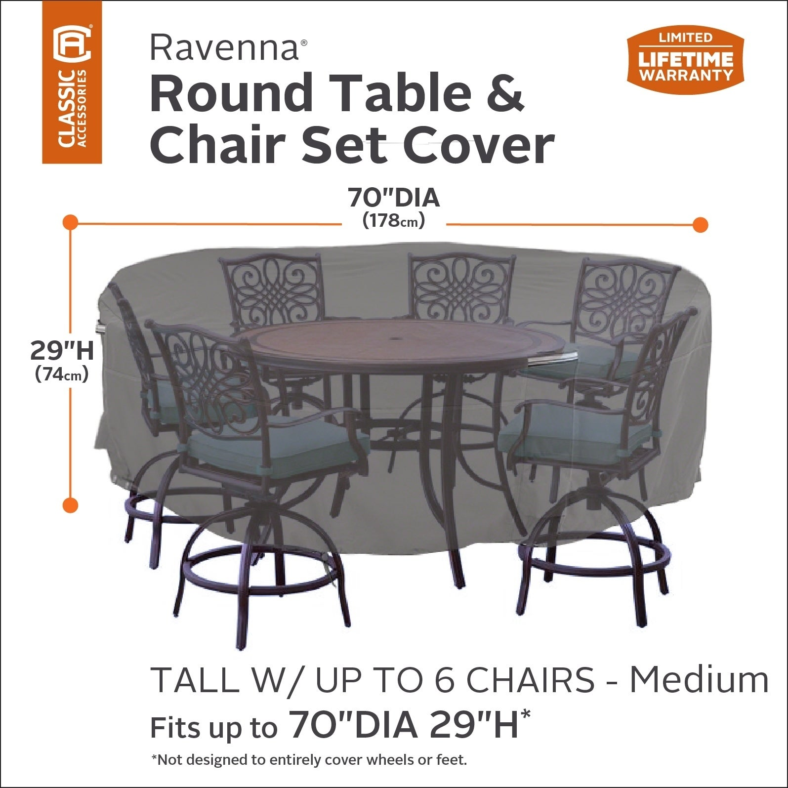 Shop Classic Accessories Ravenna Tall Round Patio Table Chair Set