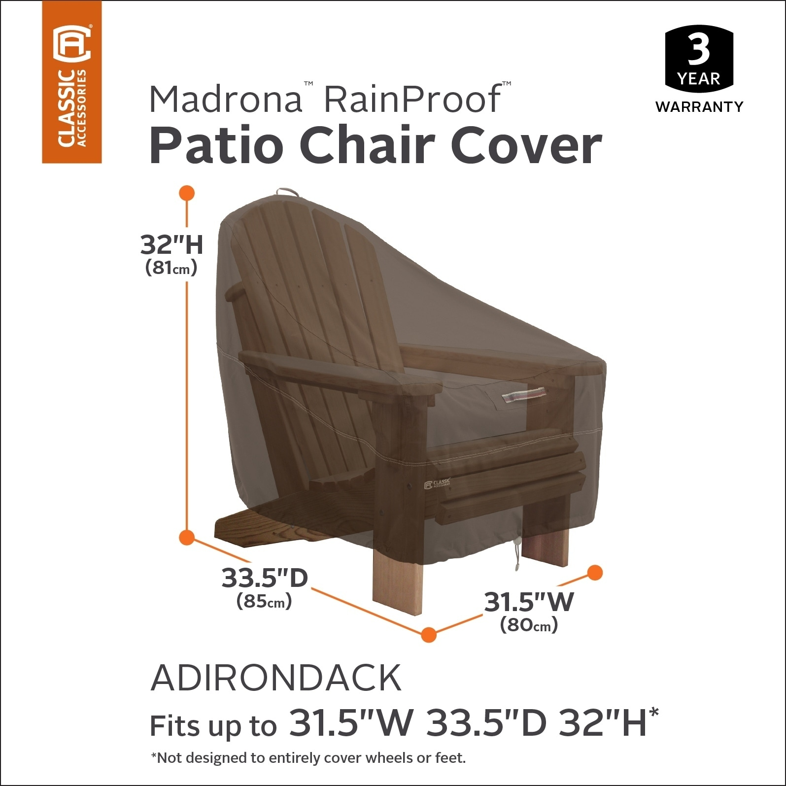 Bon Shop Classic Accessories Madrona™ RainProof™ Adirondack Chair Cover   Free  Shipping On Orders Over $45   Overstock.com   18612291