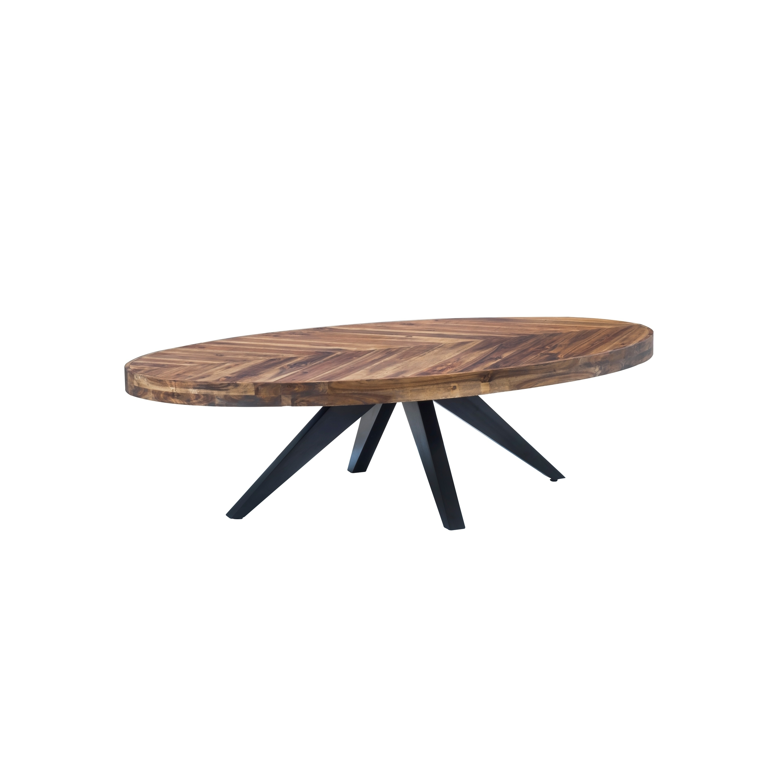 Aurelle Home Parq Cappuccino Wood Oval Coffee Table Free