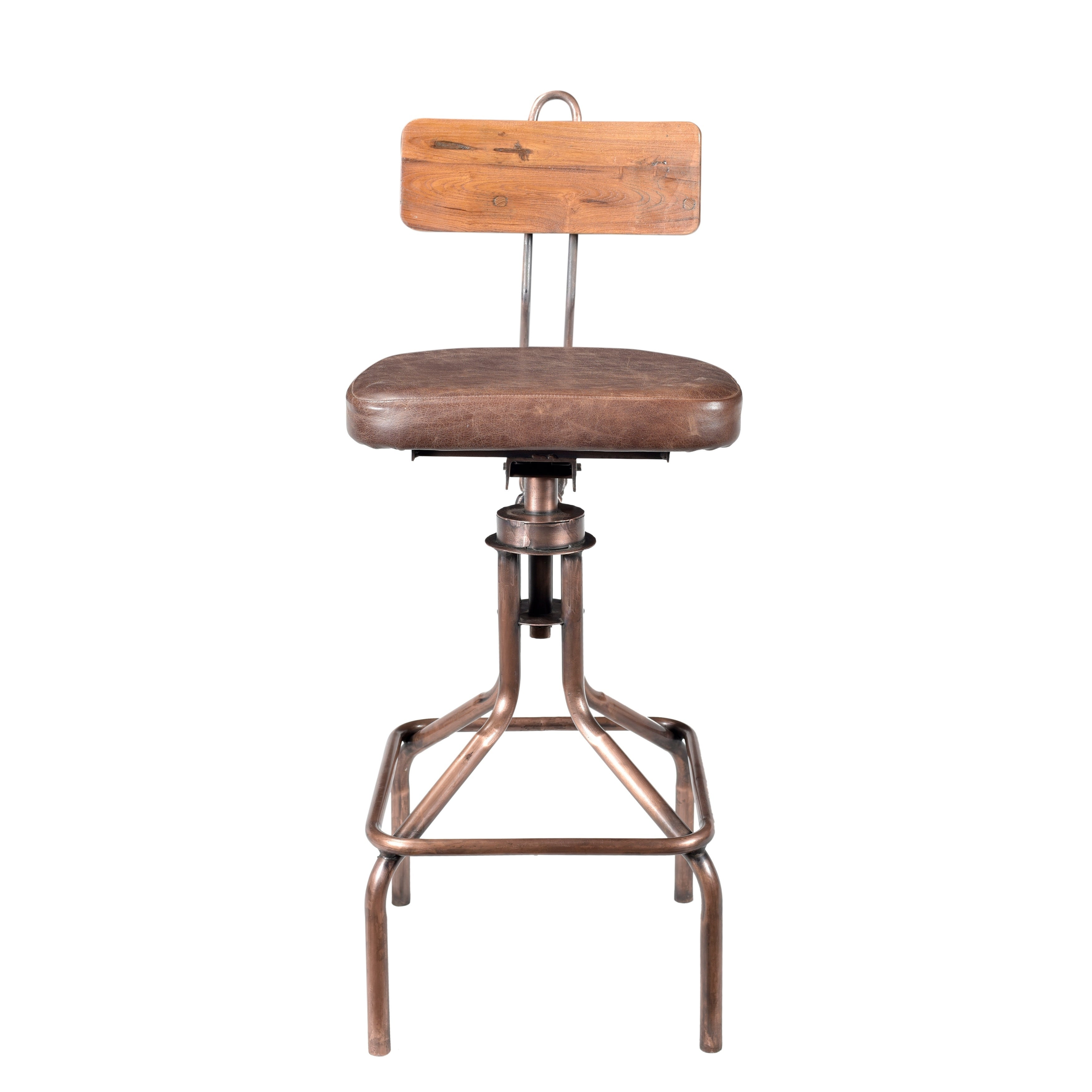 Aurelle Home Casual Rustic Copper Bar Stool Free Shipping Today 24712254