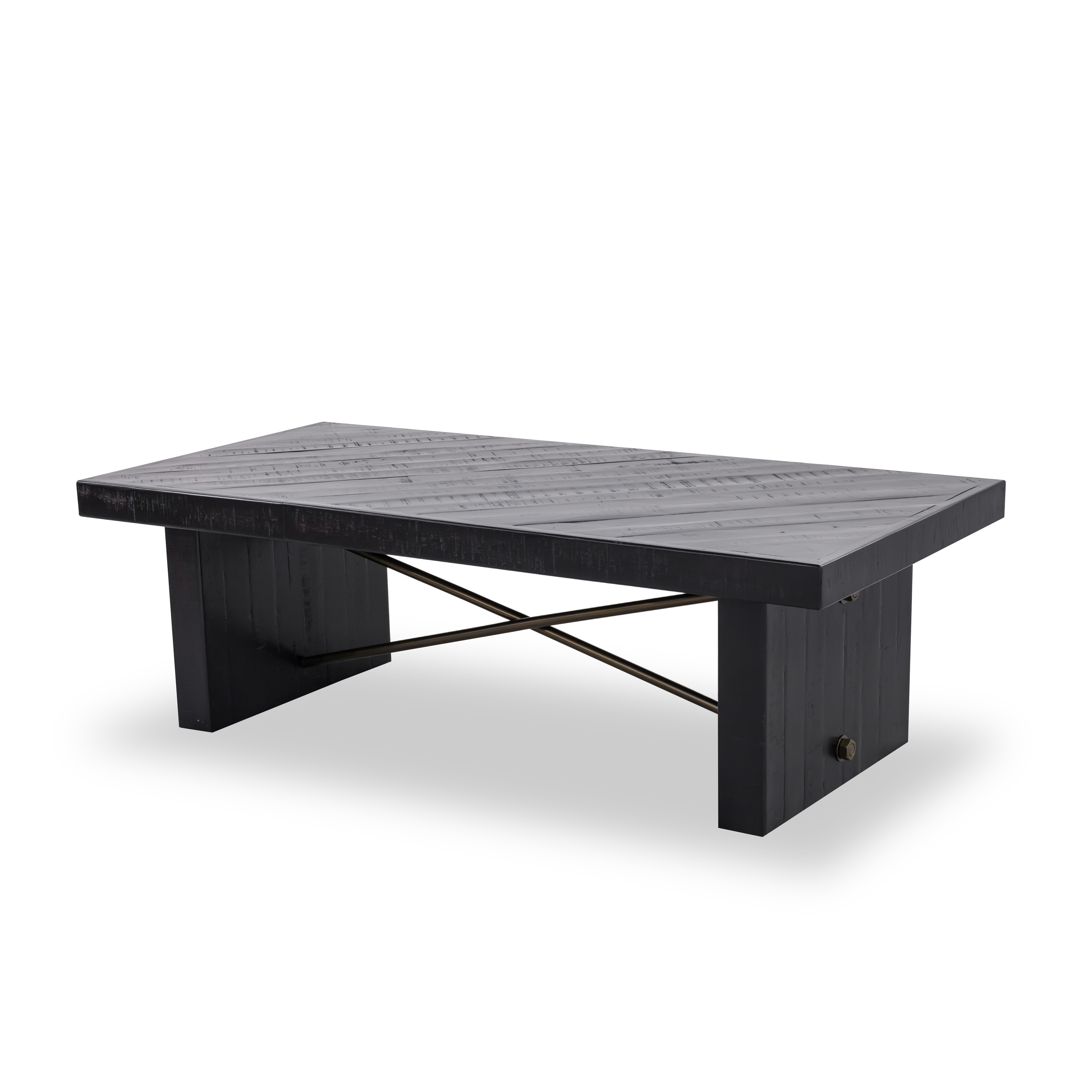 Shop aurelle home black wood farmhouse coffee table on sale free shipping today overstock com 18613310