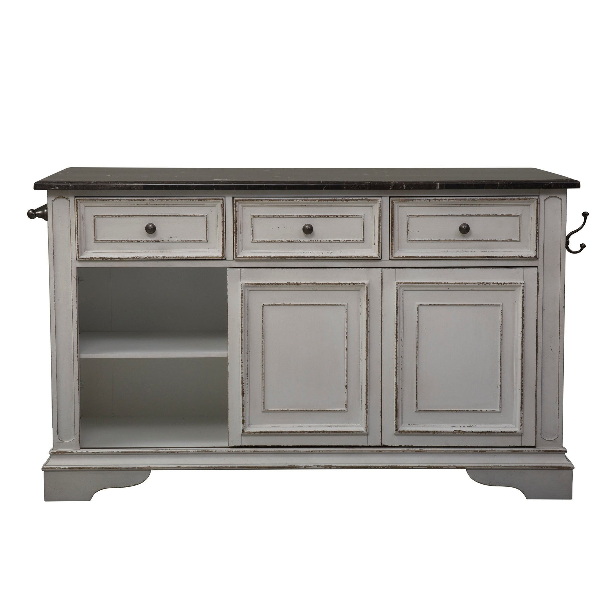 Delicieux Shop Magnolia Manor Antique White Kitchen Island With Granite Top   Free  Shipping Today   Overstock.com   18619067