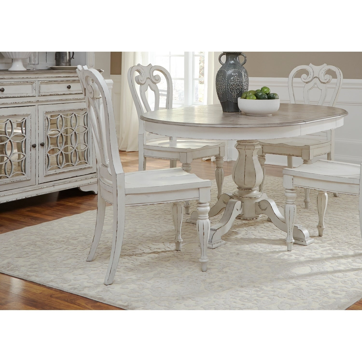 Shop Magnolia Manor Antique White Splat Back Side Chair   On Sale   Free  Shipping Today   Overstock.com   18619078