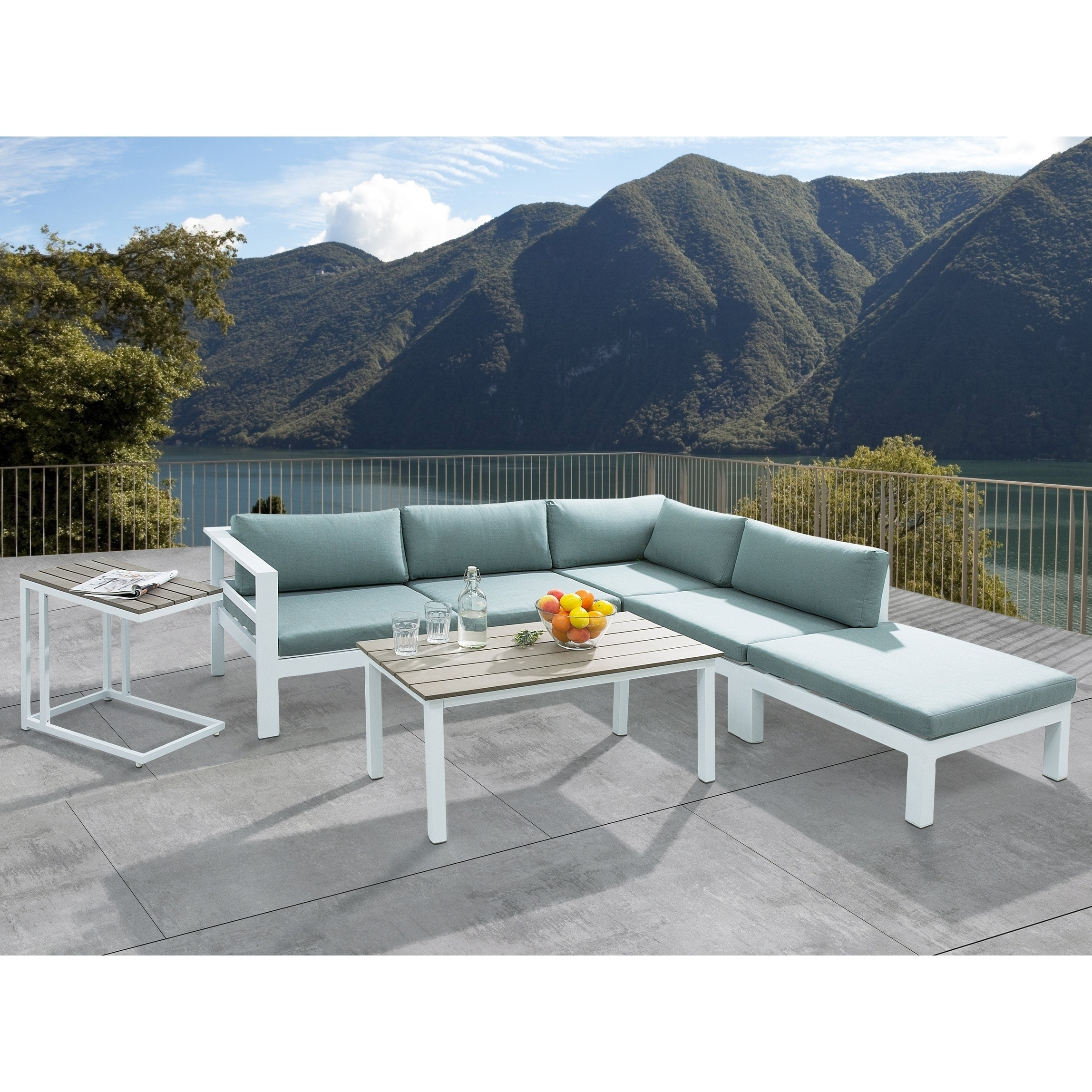 Superior Aluminum Patio Lounge Set MESSINA   Free Shipping Today   Overstock    24746631