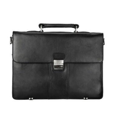 c8716dbd2e6e Visconti 01775 Classic Extra Large Front Lock- Black Business Case Handbag