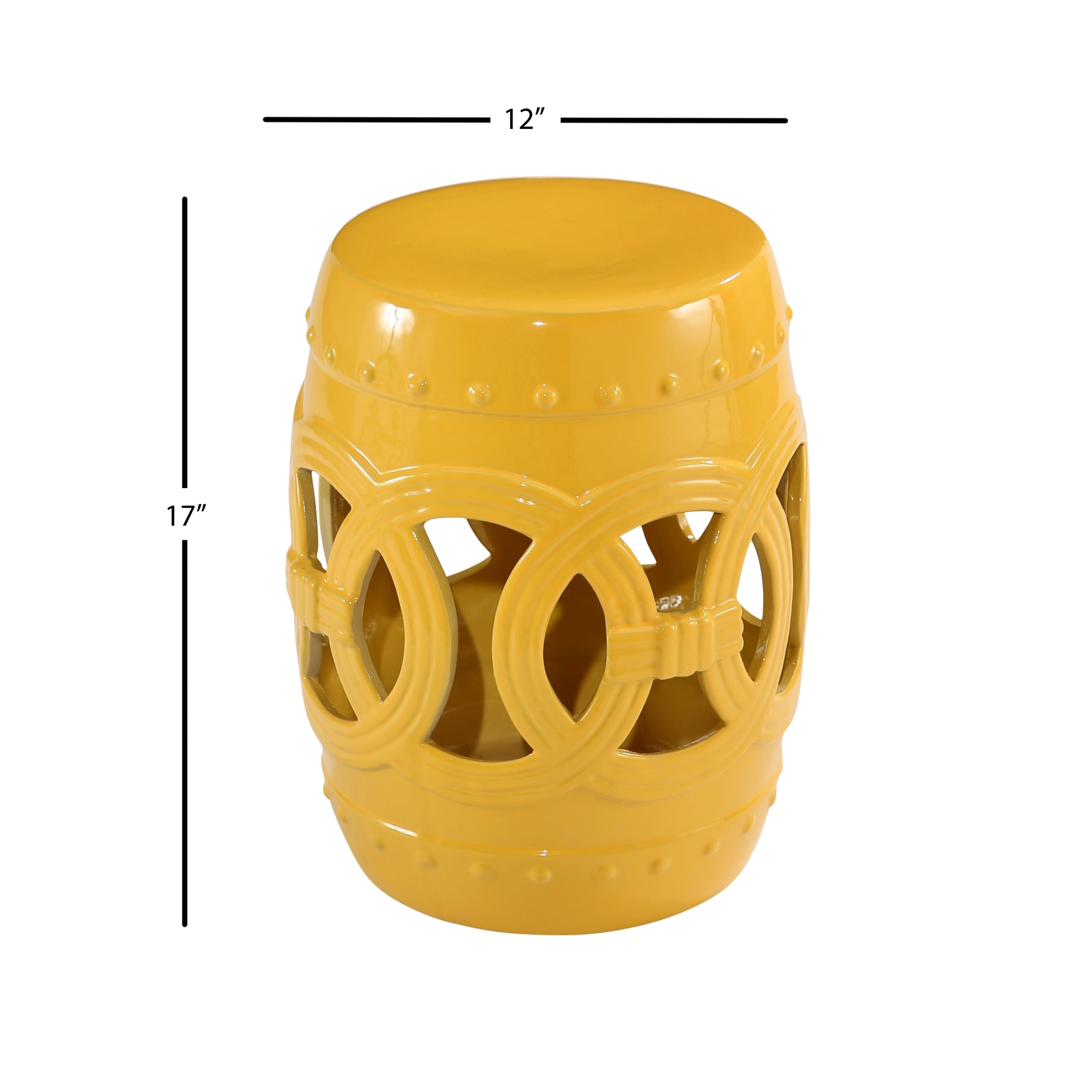 Abbyson Moroccan Yellow Garden Stool Set Of 2 On Free Shipping Today 18653437