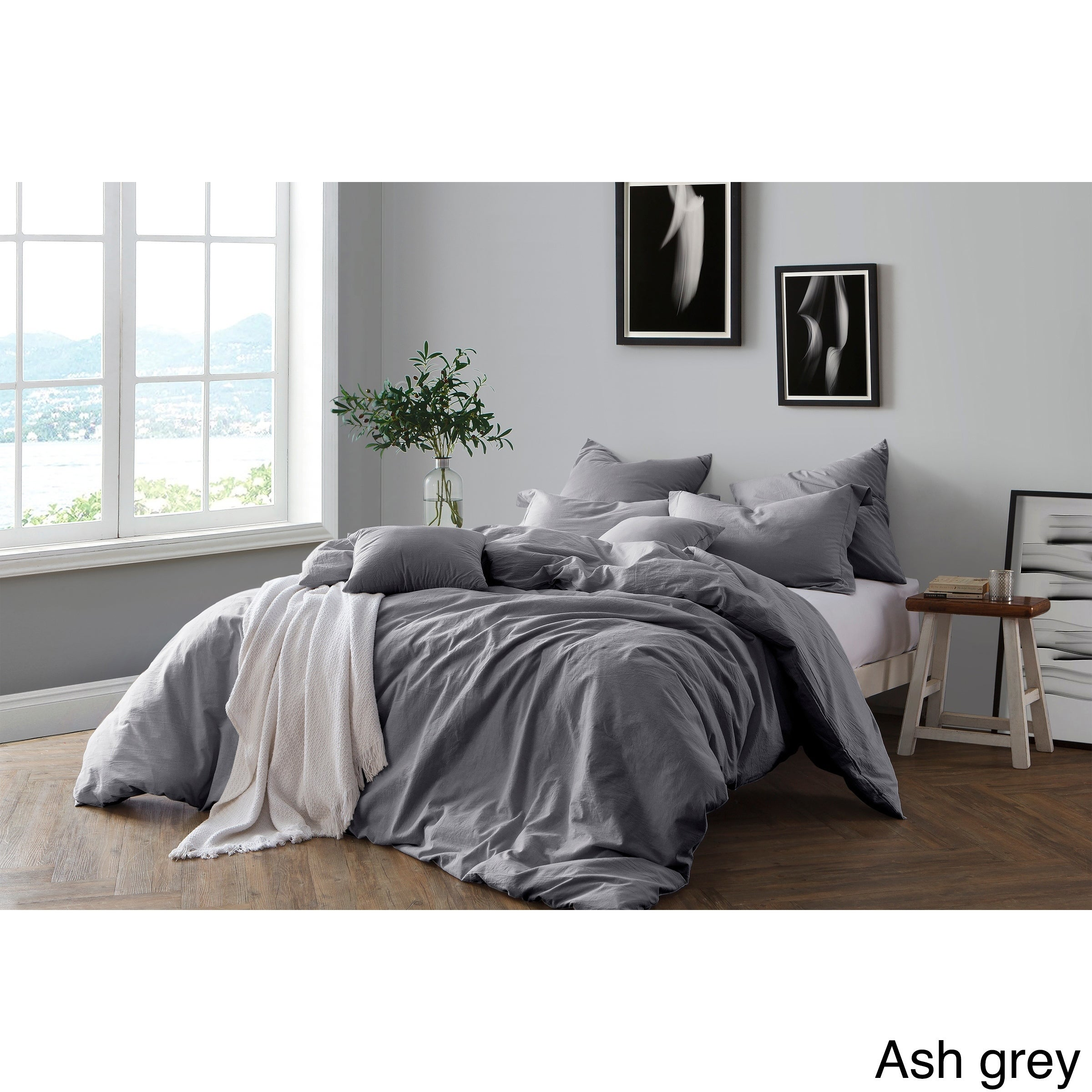All Natural Pre Washed Yarn Dye Cotton Chambray Duvet Cover Set Free Shipping Today 24748758