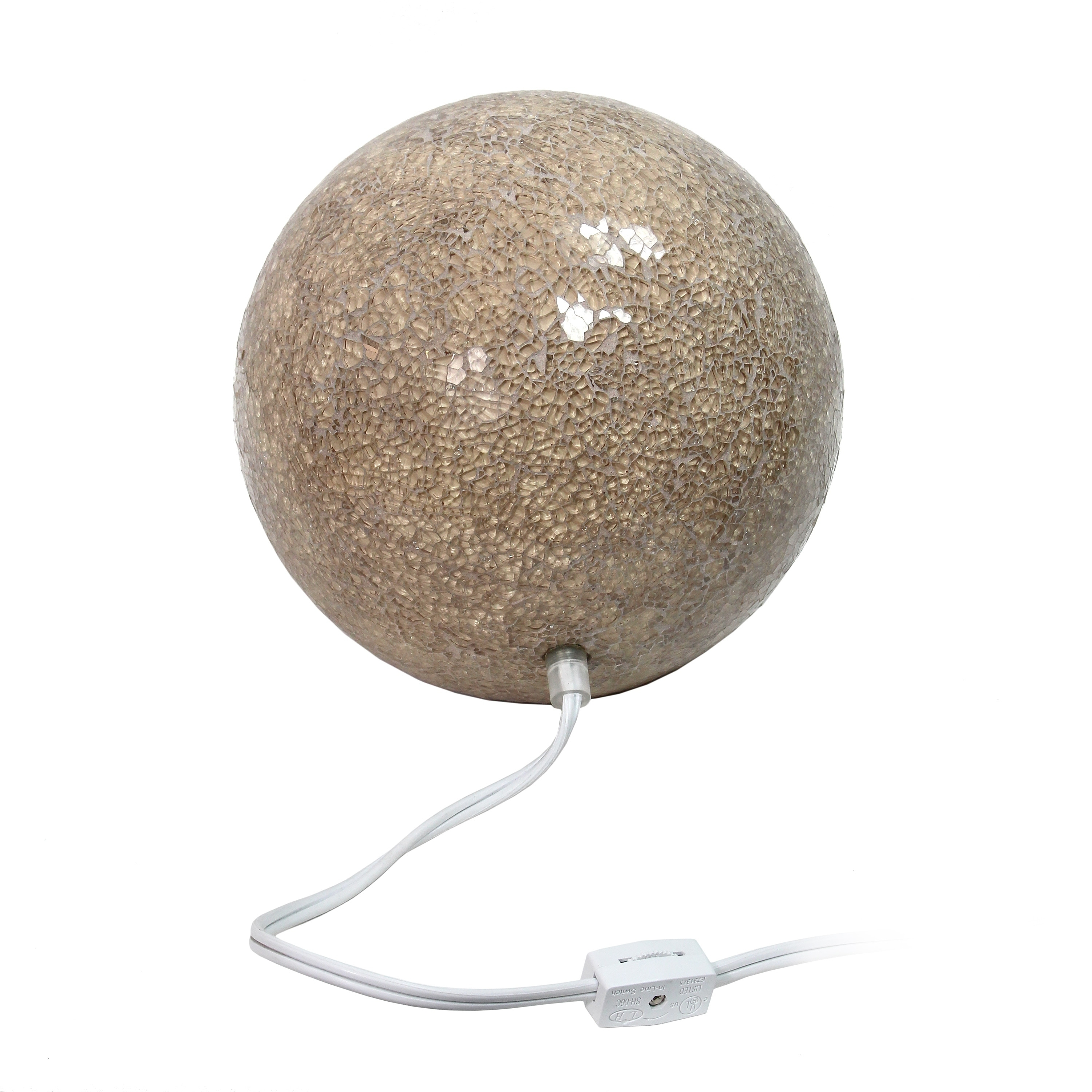 Shop Simple Designs 1 Light Mosaic Stone Ball Table Lamp, Champagne   On  Sale   Free Shipping On Orders Over $45   Overstock.com   18655874
