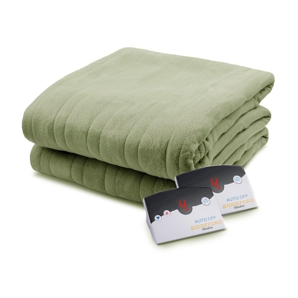 Shop Pure Warmth By Biddeford Fleece Electric Heated Blanket King