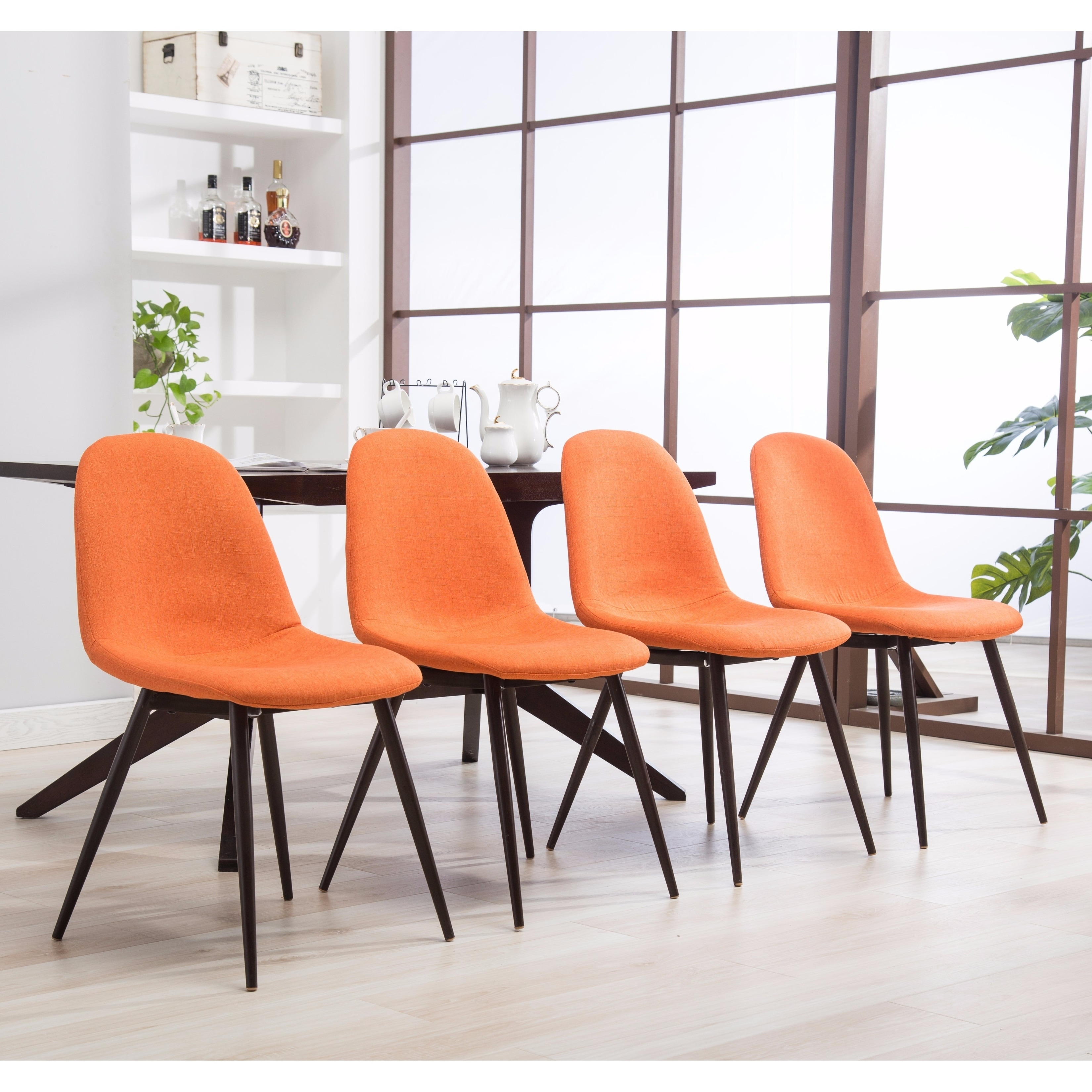 Lassan Modern Contemporary Blue Fabric Dining Chairs, Set of 4 ...