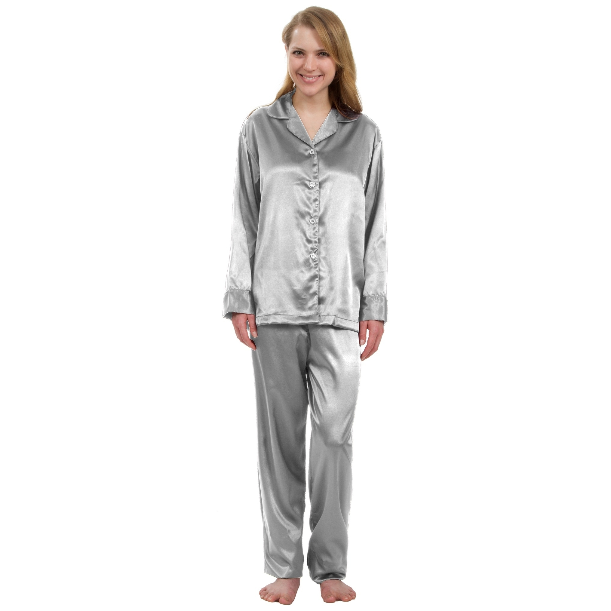 comforter shoes most clothing pajama stretch product satin orders comfortable s pajamas leisureland on free women womens set classic shipping over overstock