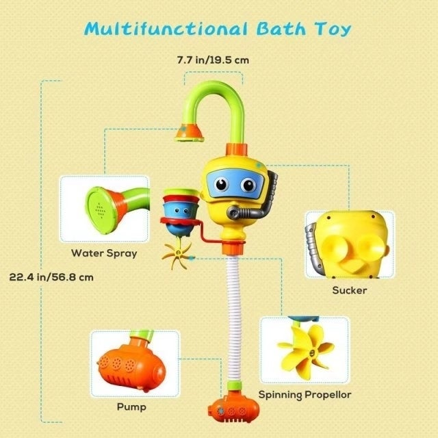 Baby Bath Toys, PICTEK Spray Shower Toy with 3 Stackable Cups ...