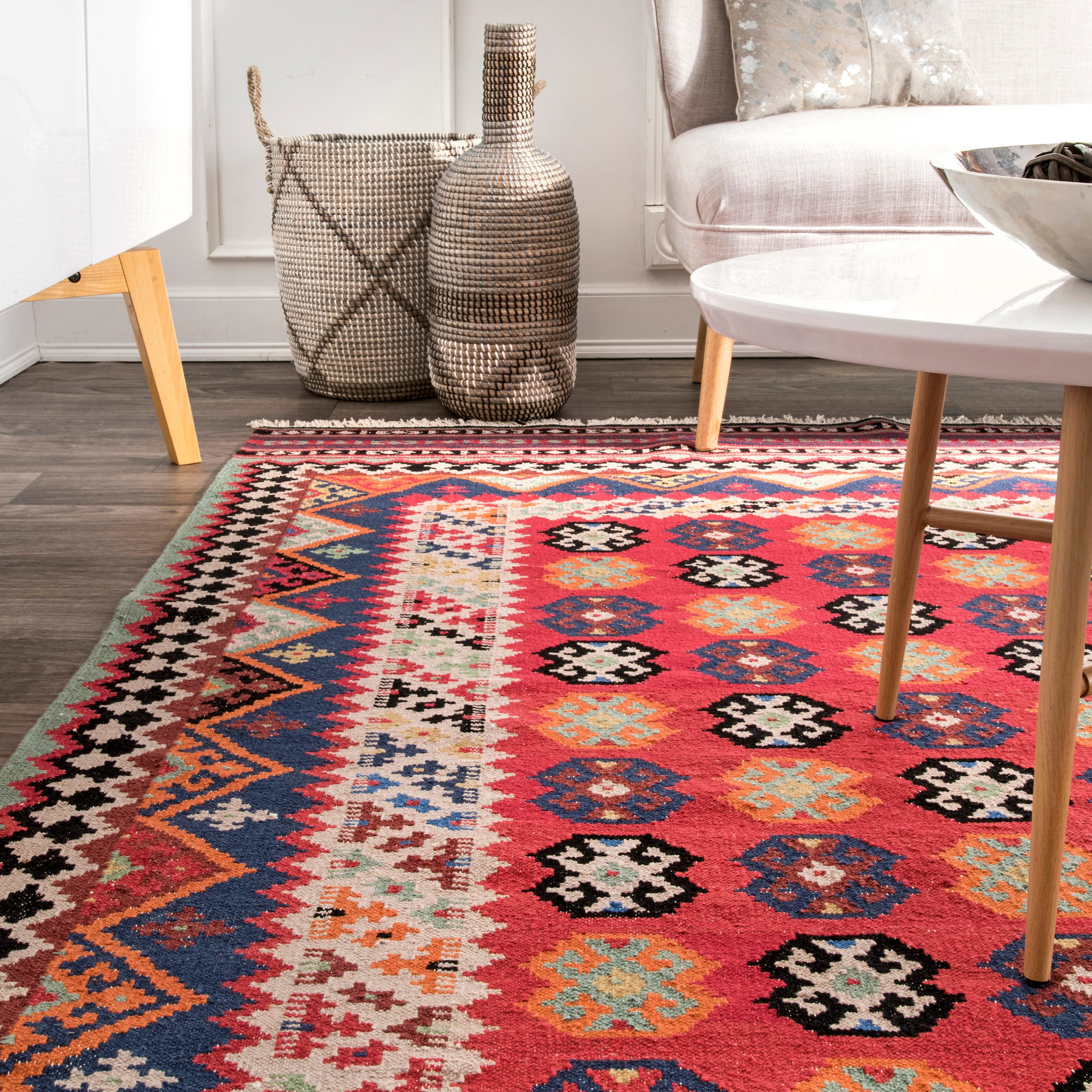 b pink area the depot southwestern flooring home gold mohawk n aztec rug rugs