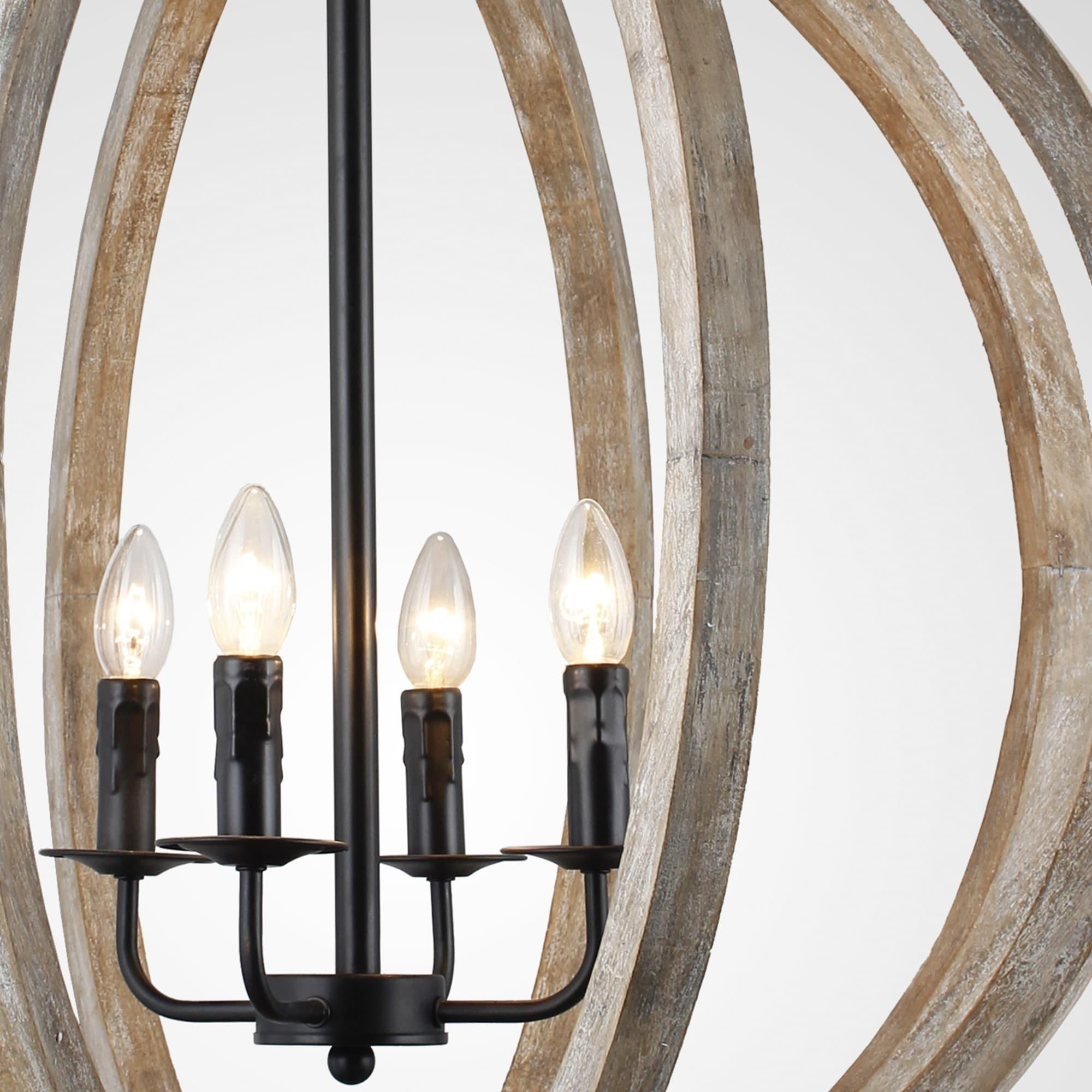 Y decor capoli 4 light wooden orb chandelier in neutral finish y decor capoli 4 light wooden orb chandelier in neutral finish free shipping today overstock 24777981 arubaitofo Gallery