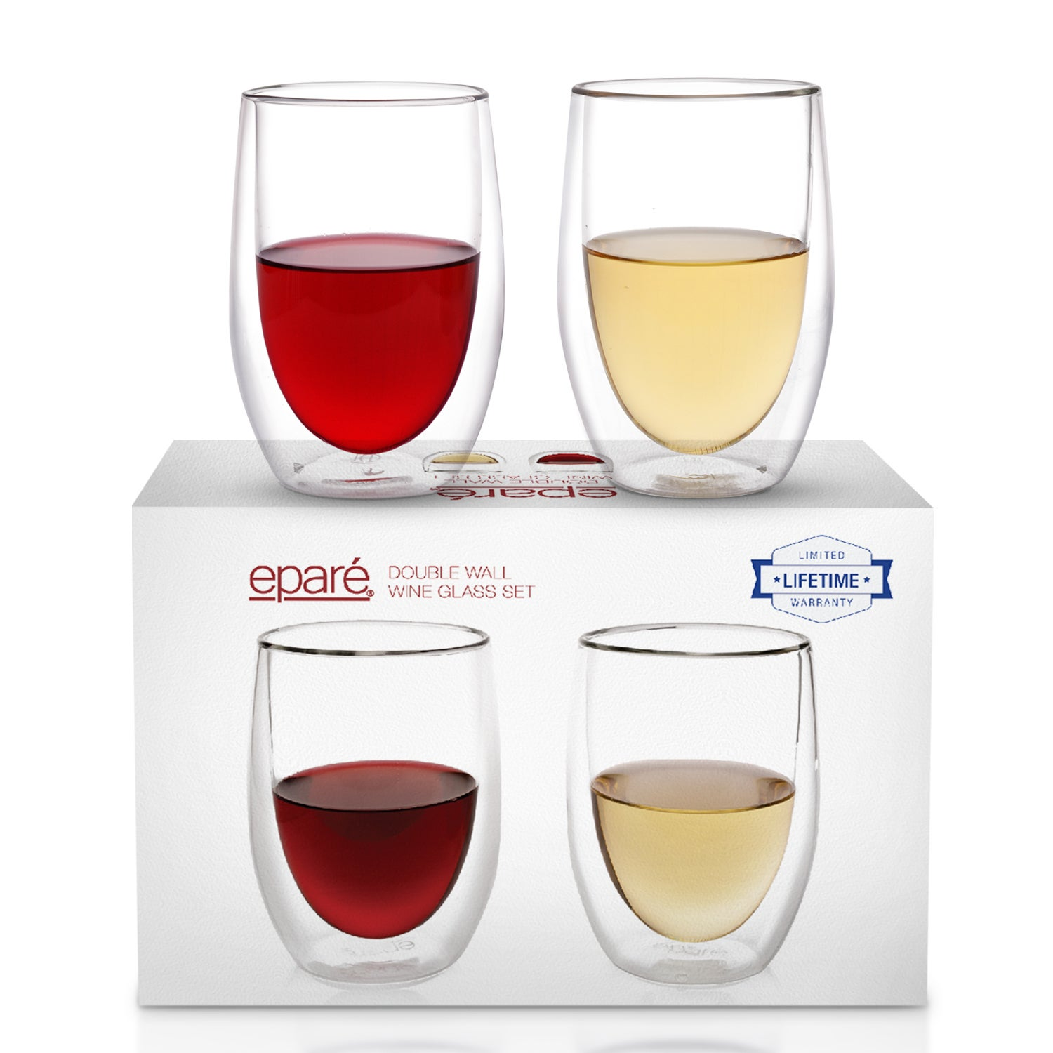 Shop Epare Double Wall Wine Glass Set Of 2
