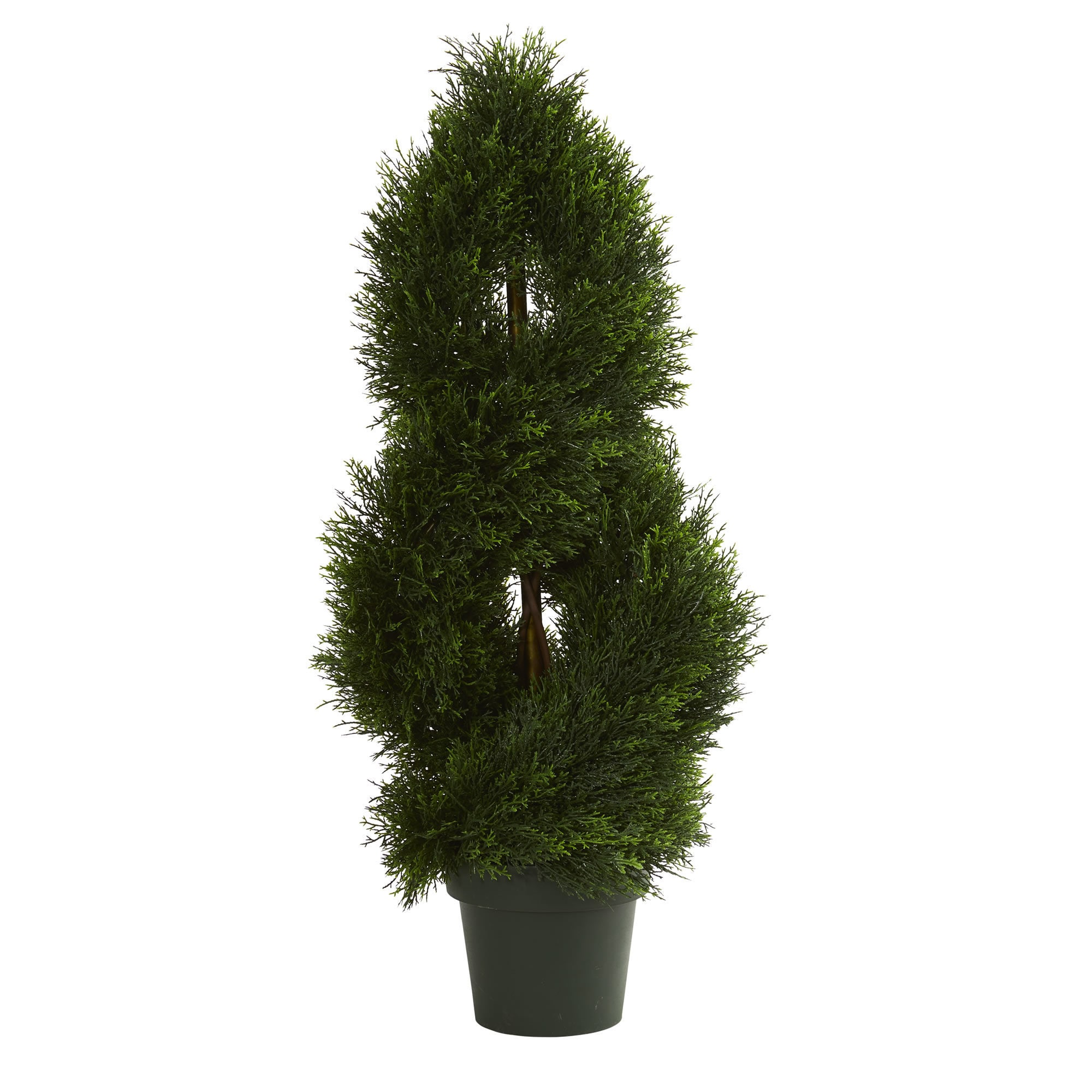 Double Pond Cypress Spiral Artificial Topiary Tree Uv Resistant Indoor Outdoor Free Shipping Today 18688545